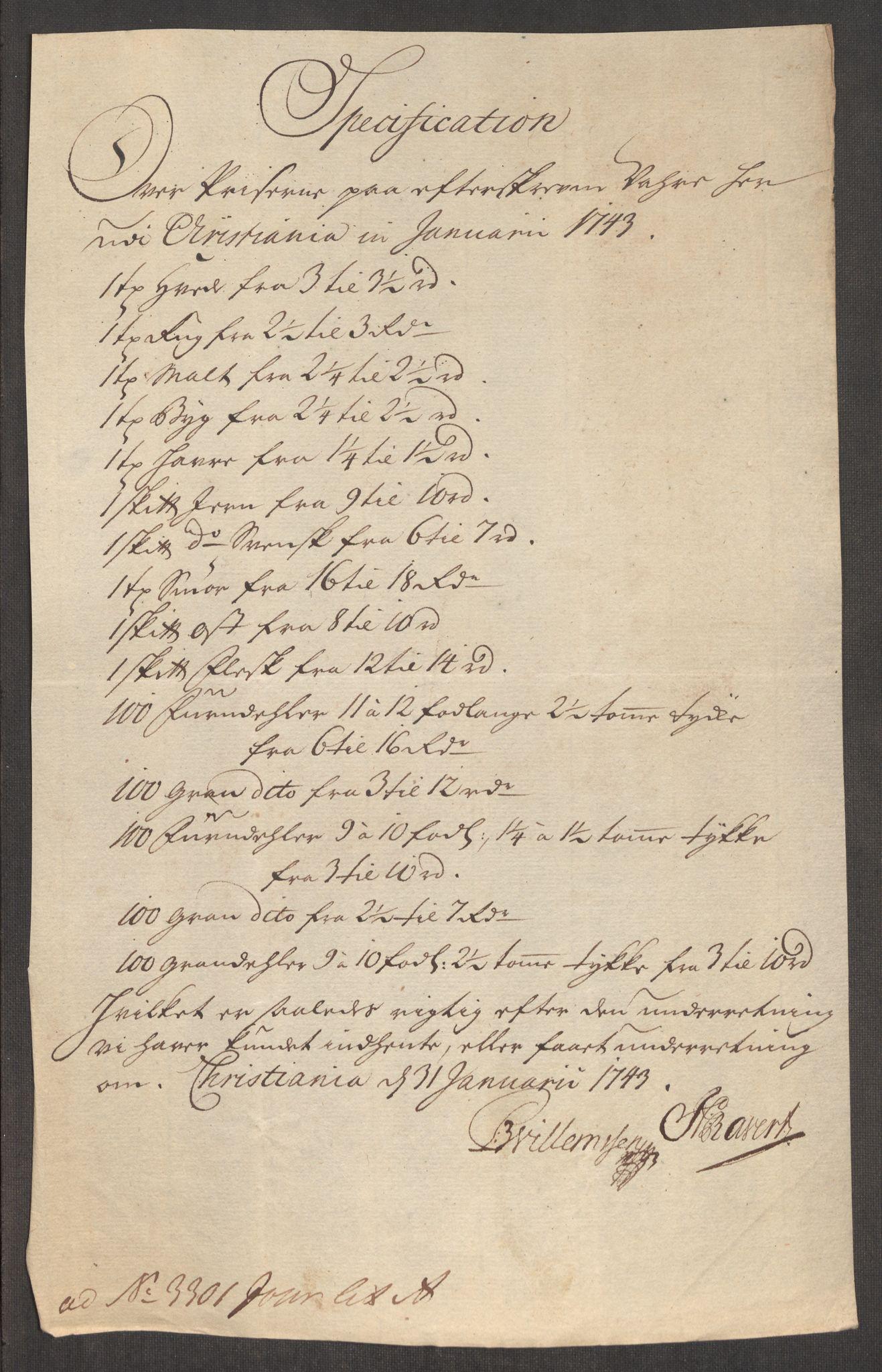 RA, Rentekammeret inntil 1814, Realistisk ordnet avdeling, Oe/L0002: [Ø1]: Priskuranter, 1740-1744, s. 642