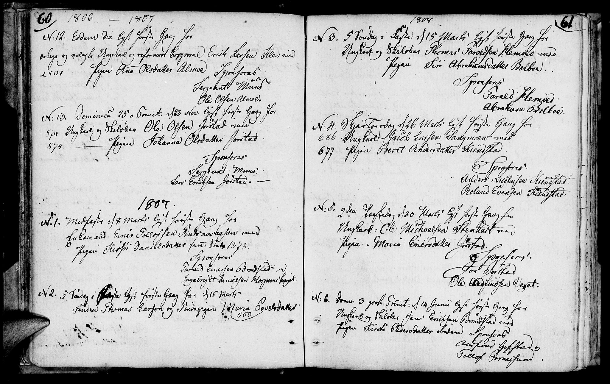 SAT, Ministerialprotokoller, klokkerbøker og fødselsregistre - Nord-Trøndelag, 749/L0468: Ministerialbok nr. 749A02, 1787-1817, s. 60-61