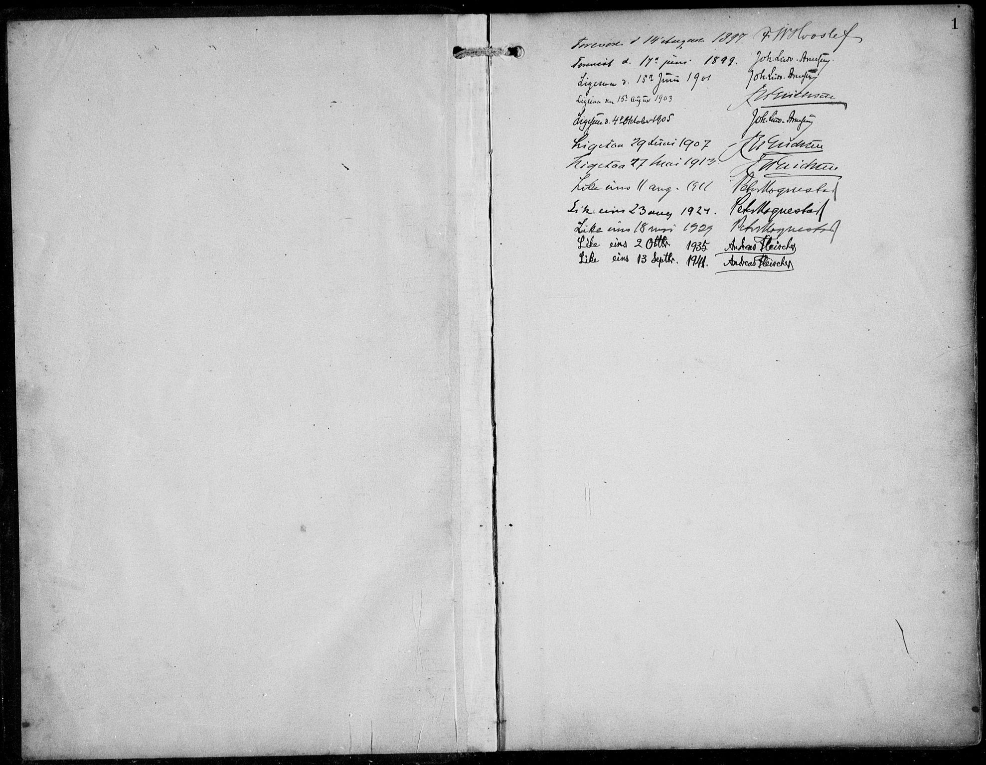 SAB, Aurland Sokneprestembete*, Klokkerbok nr. A 3, 1896-1939, s. 1