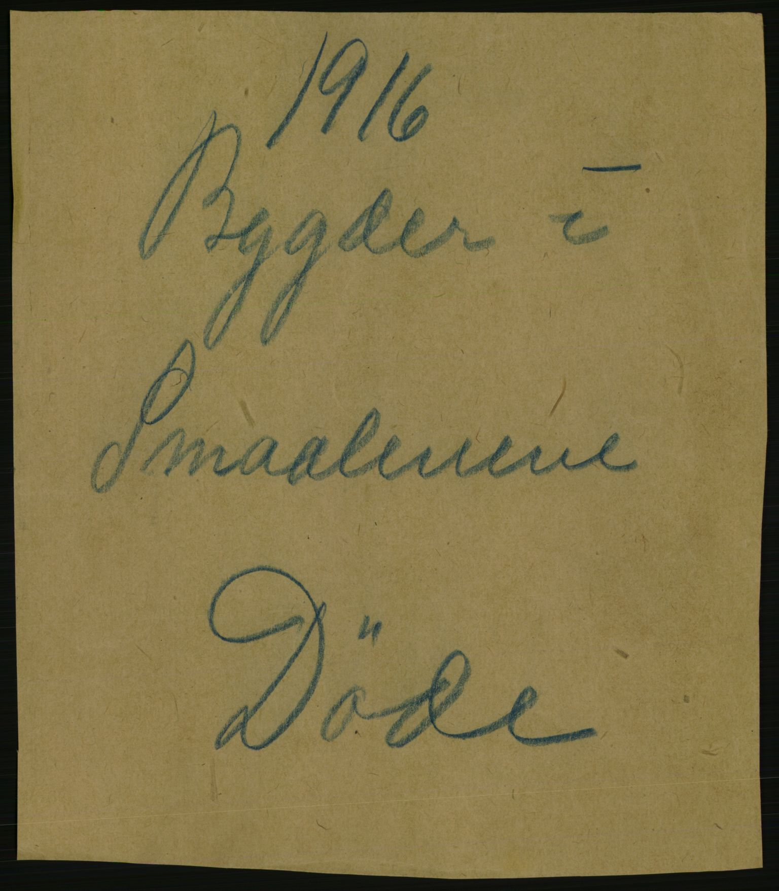 RA, Statistisk sentralbyrå, Sosiodemografiske emner, Befolkning, D/Df/Dfb/Dfbf/L0003: Smålenenes amt: Døde, dødfødte. Bygder og byer., 1916