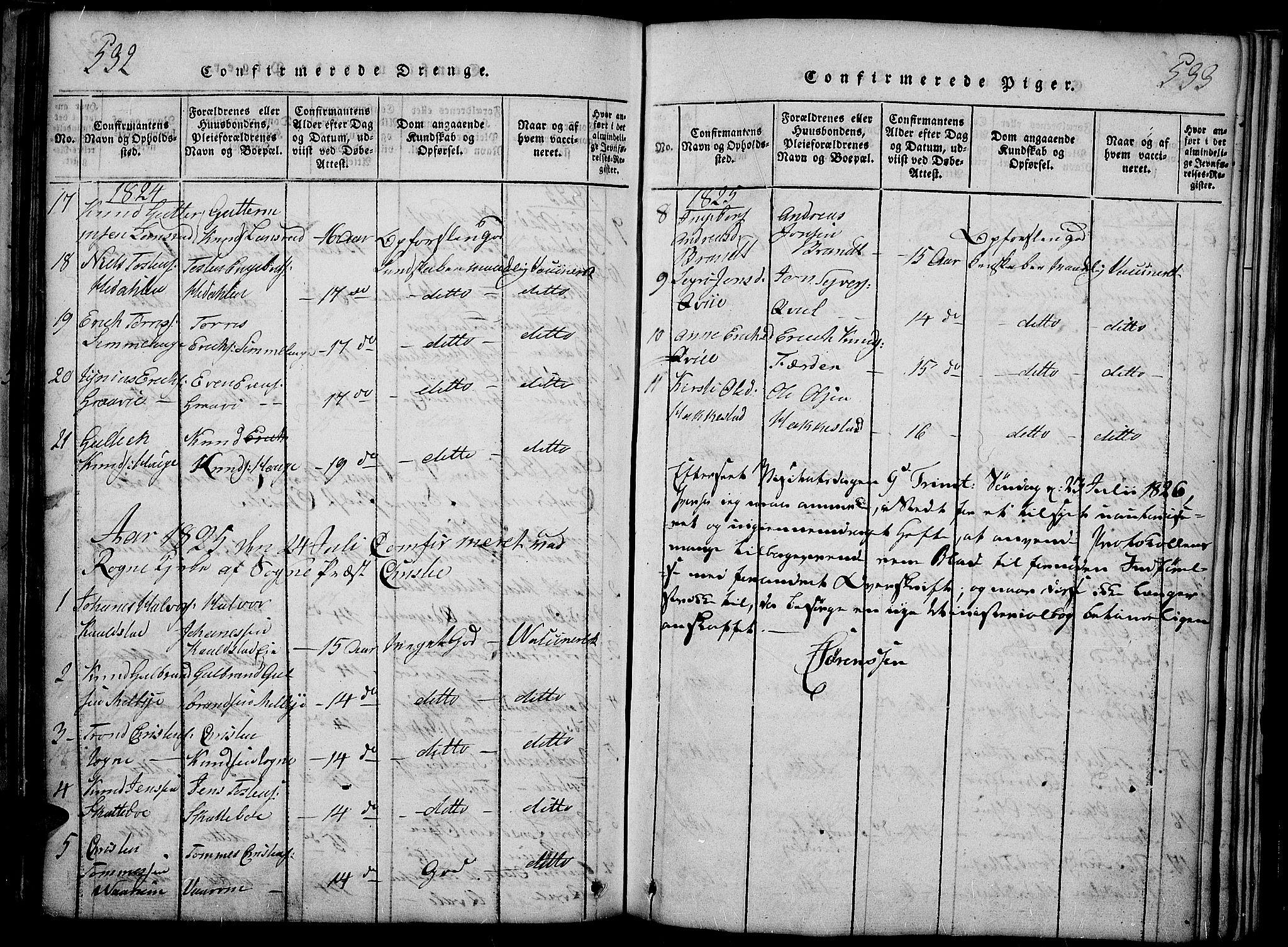 SAH, Slidre prestekontor, Ministerialbok nr. 2, 1814-1830, s. 532-533