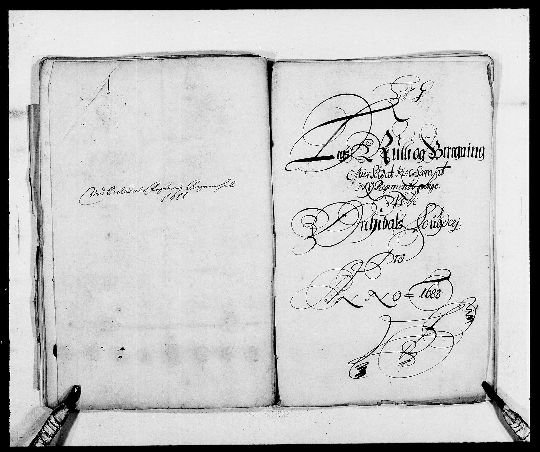 RA, Rentekammeret inntil 1814, Reviderte regnskaper, Fogderegnskap, R58/L3935: Fogderegnskap Orkdal, 1687-1688, s. 280