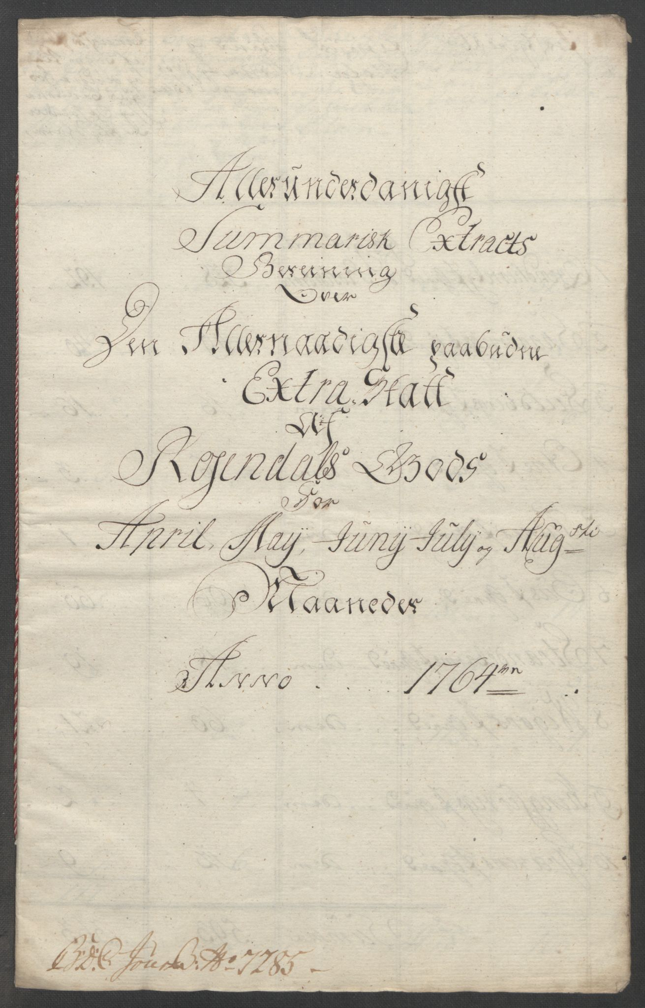 RA, Rentekammeret inntil 1814, Reviderte regnskaper, Fogderegnskap, R49/L3157: Ekstraskatten Rosendal Baroni, 1762-1772, s. 88