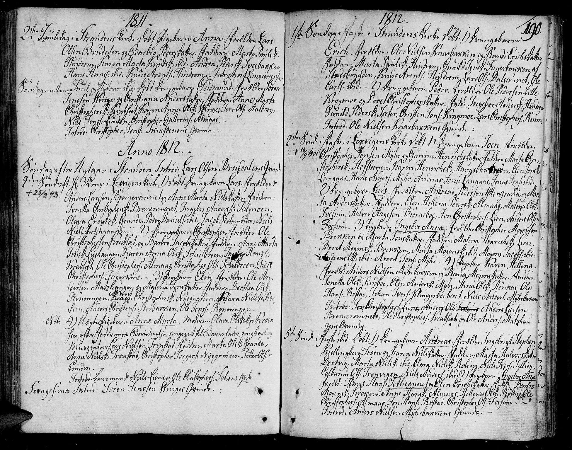 SAT, Ministerialprotokoller, klokkerbøker og fødselsregistre - Nord-Trøndelag, 701/L0004: Ministerialbok nr. 701A04, 1783-1816, s. 190