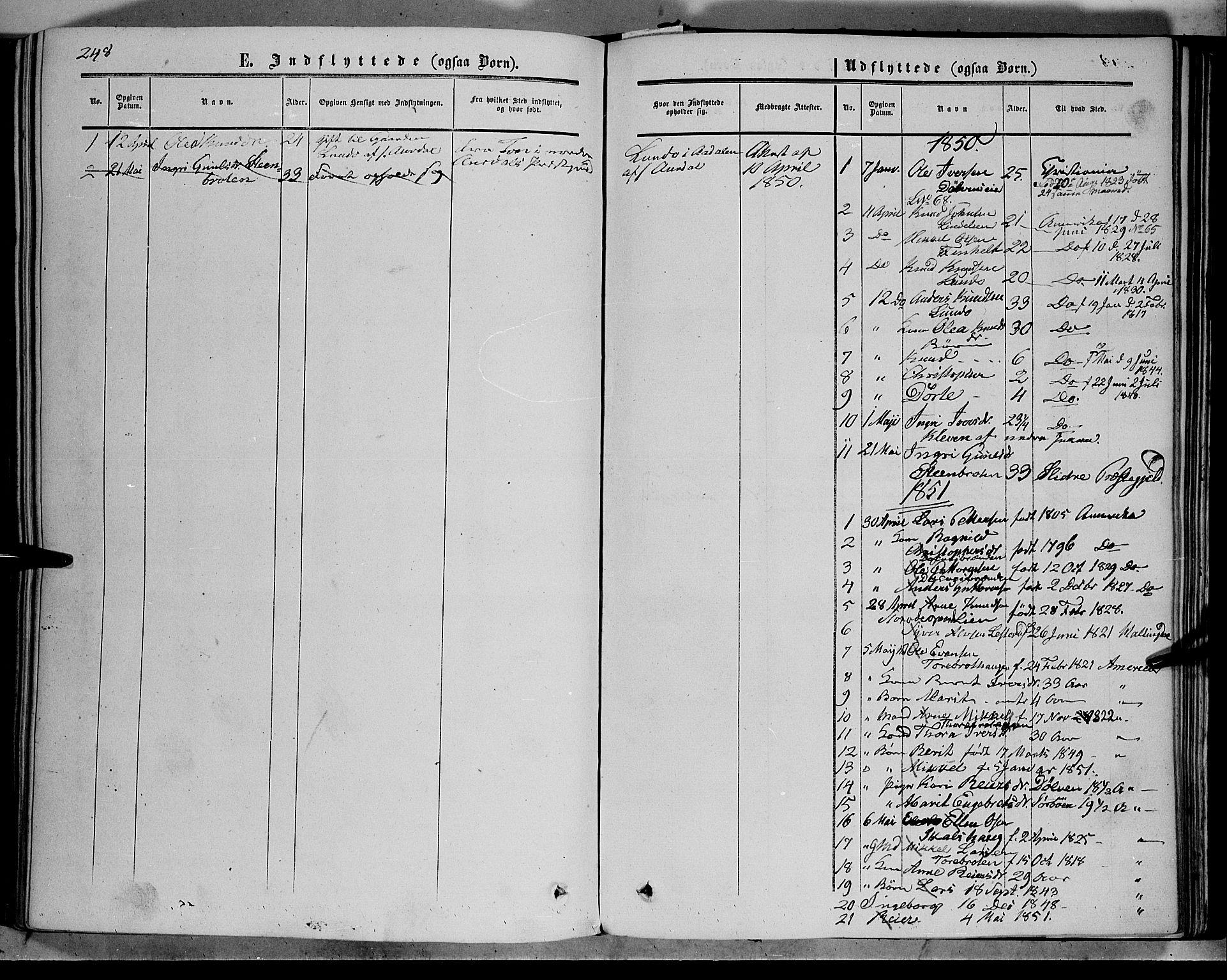 SAH, Sør-Aurdal prestekontor, Ministerialbok nr. 5, 1849-1876, s. 248