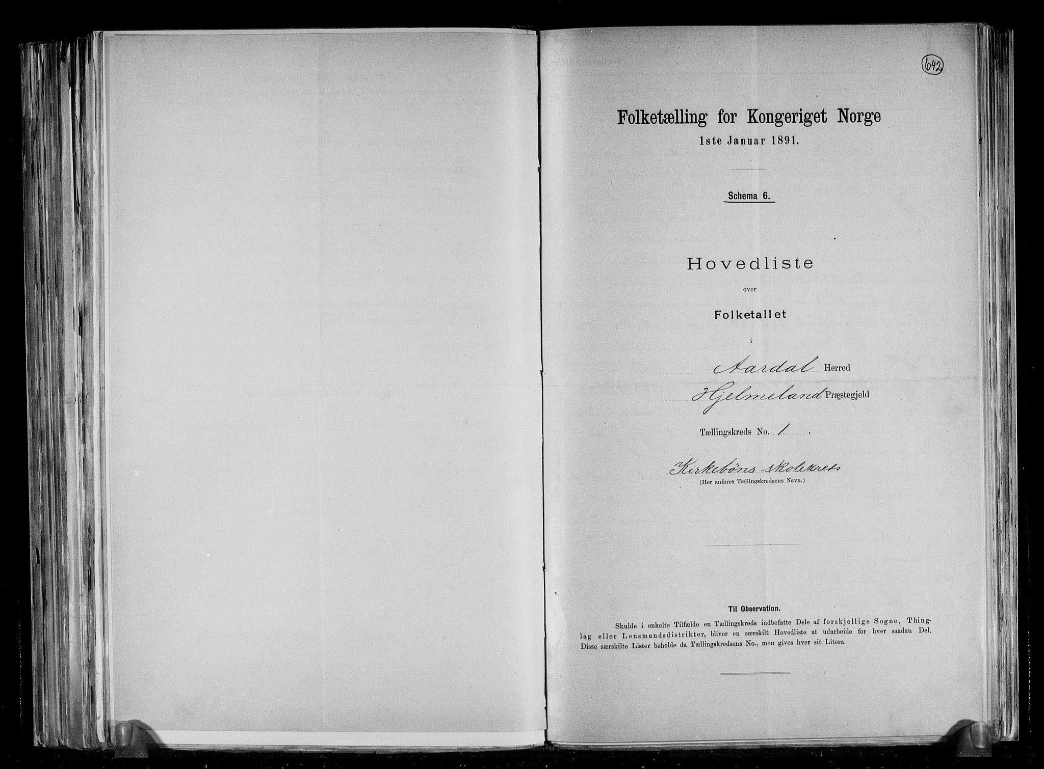 RA, Folketelling 1891 for 1131 Årdal herred, 1891, s. 4