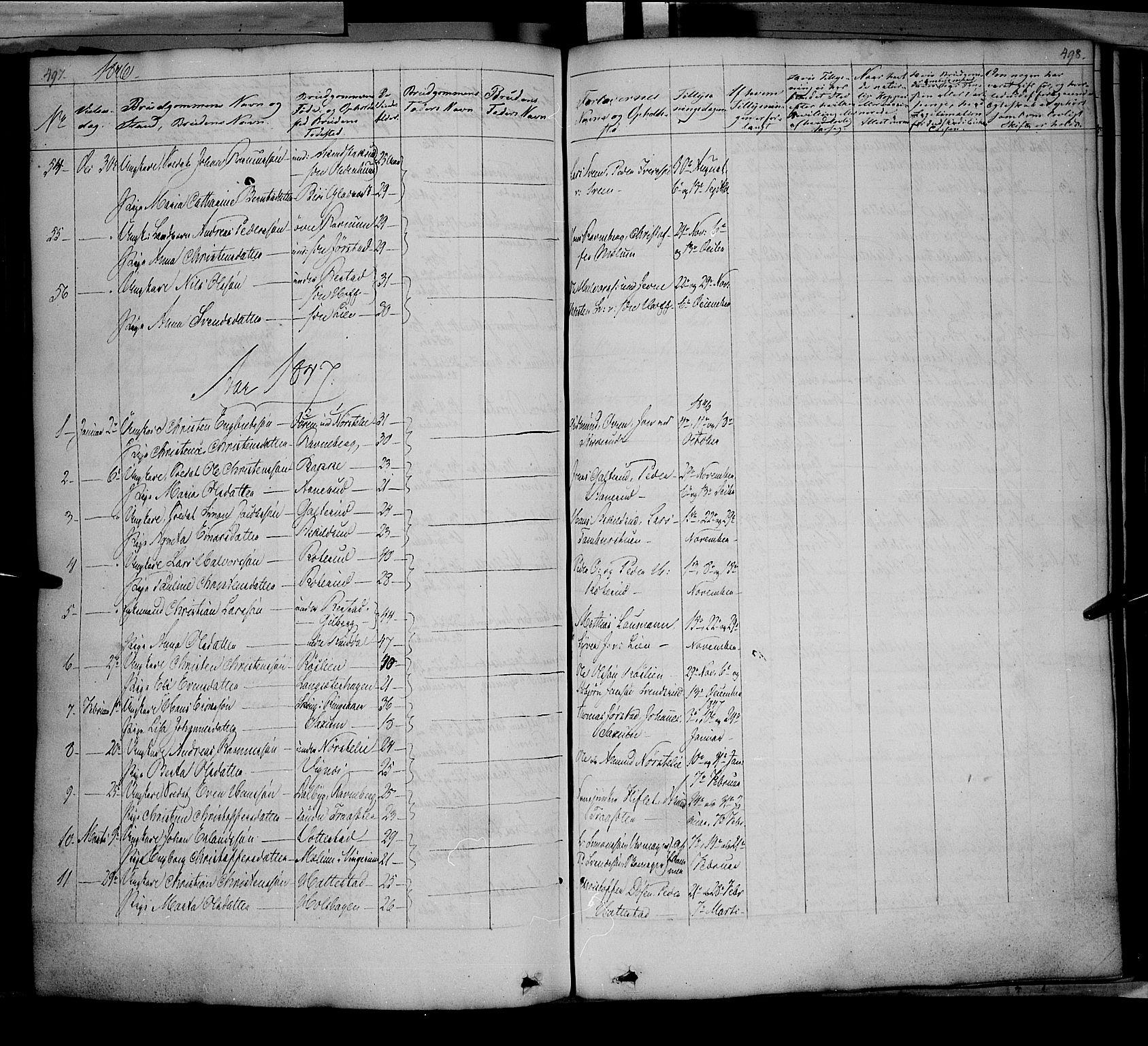 SAH, Fåberg prestekontor, Ministerialbok nr. 5, 1836-1854, s. 497-498