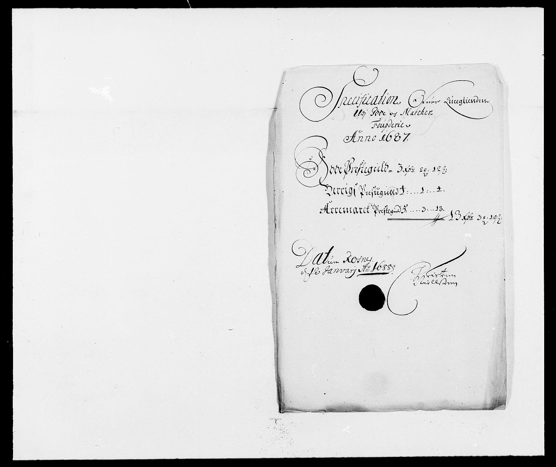 RA, Rentekammeret inntil 1814, Reviderte regnskaper, Fogderegnskap, R01/L0007: Fogderegnskap Idd og Marker, 1687-1688, s. 86
