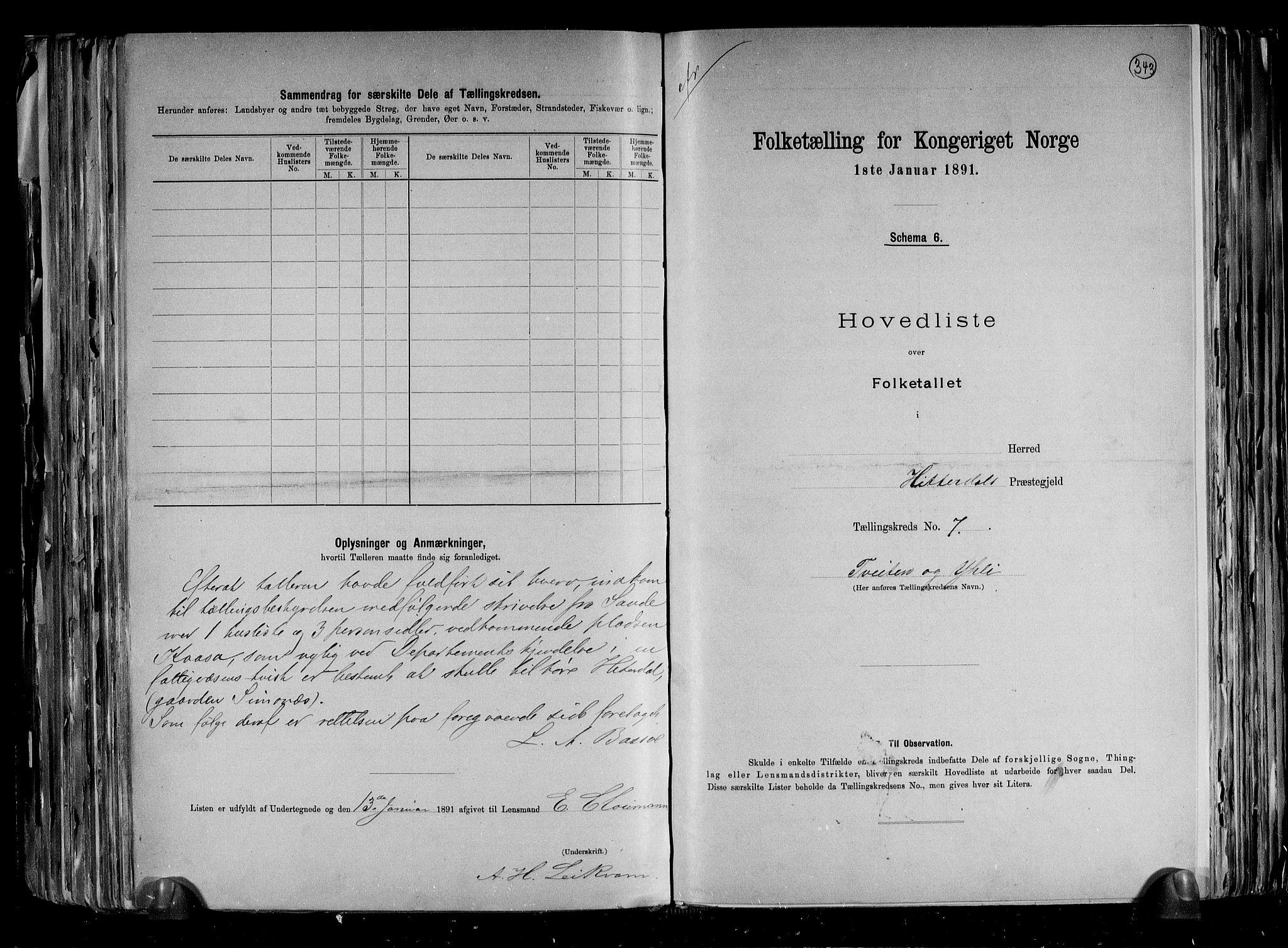 RA, Folketelling 1891 for 0823 Heddal herred, 1891, s. 20