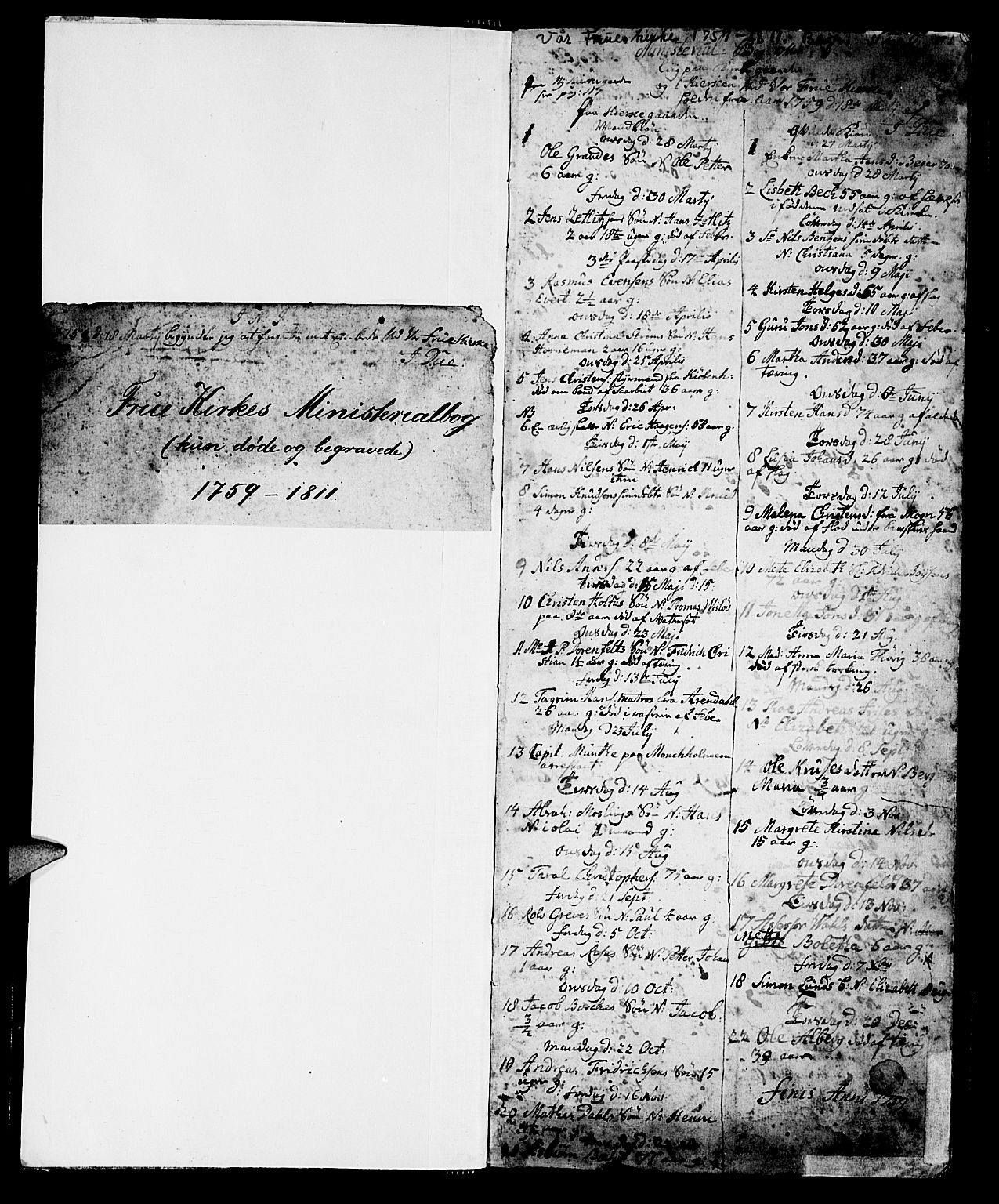 SAT, Ministerialprotokoller, klokkerbøker og fødselsregistre - Sør-Trøndelag, 602/L0134: Klokkerbok nr. 602C02, 1759-1812, s. 0-1