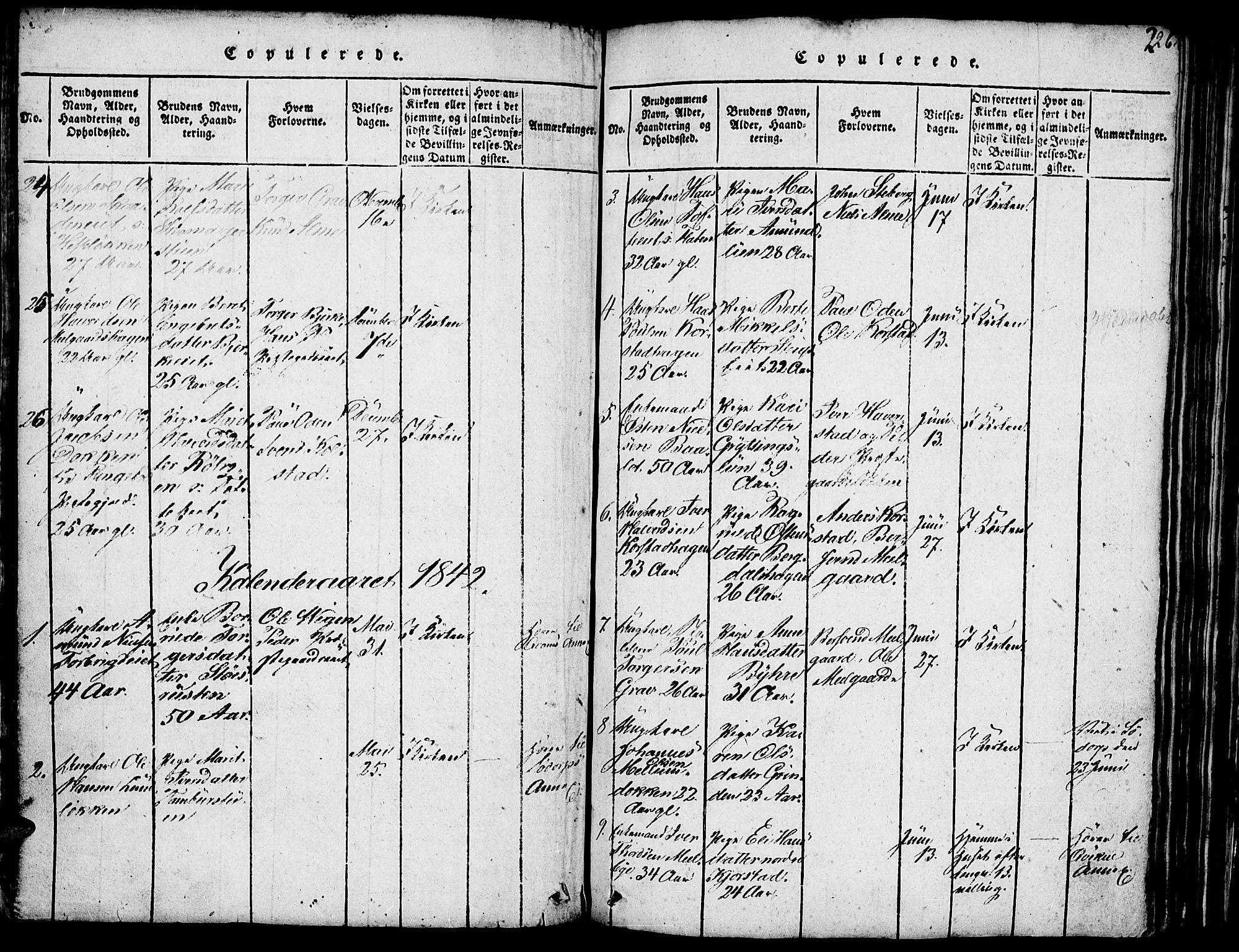 SAH, Fron prestekontor, H/Ha/Hab/L0001: Klokkerbok nr. 1, 1816-1843, s. 226
