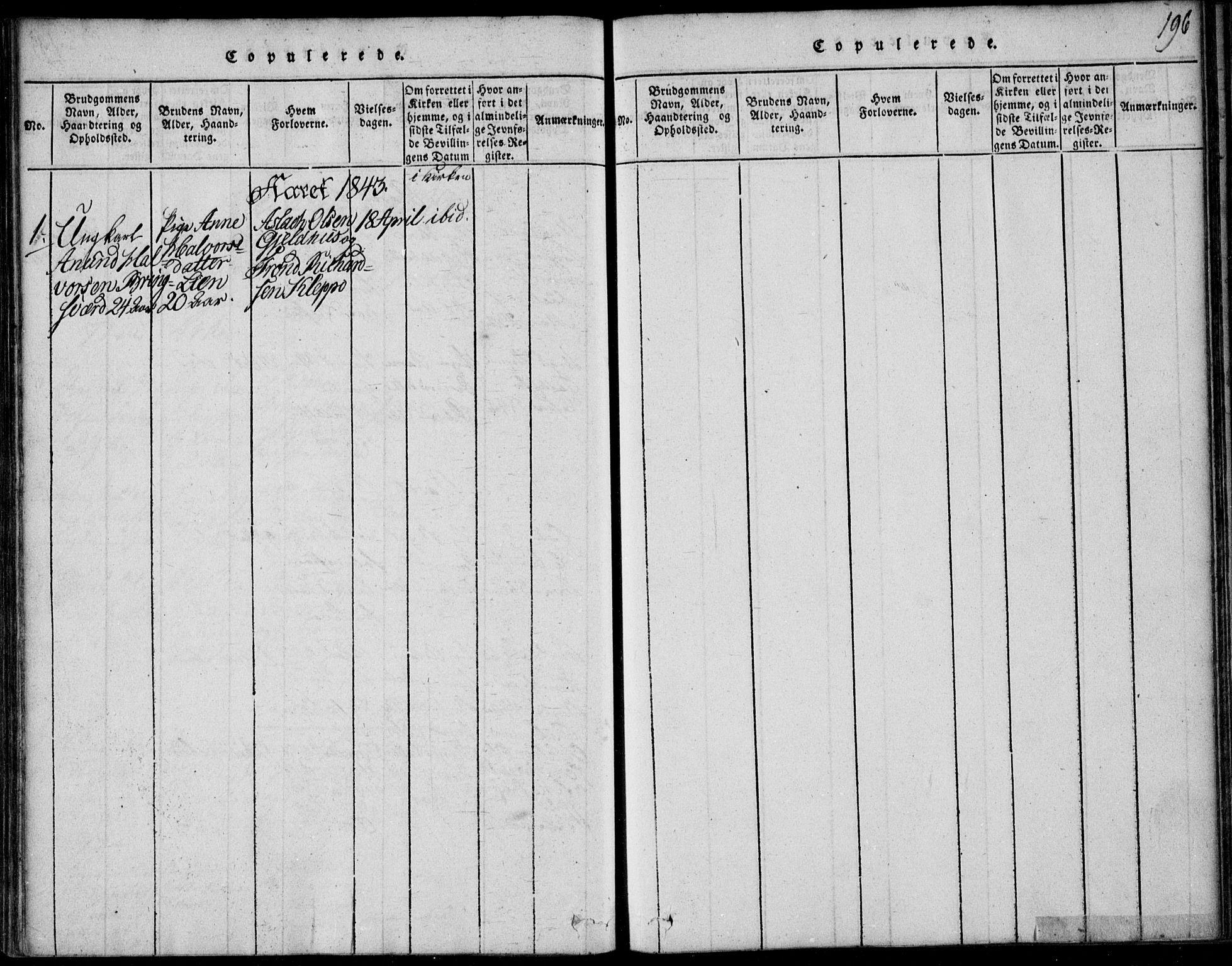 SAKO, Vinje kirkebøker, F/Fb/L0001: Ministerialbok nr. II 1, 1814-1843, s. 196