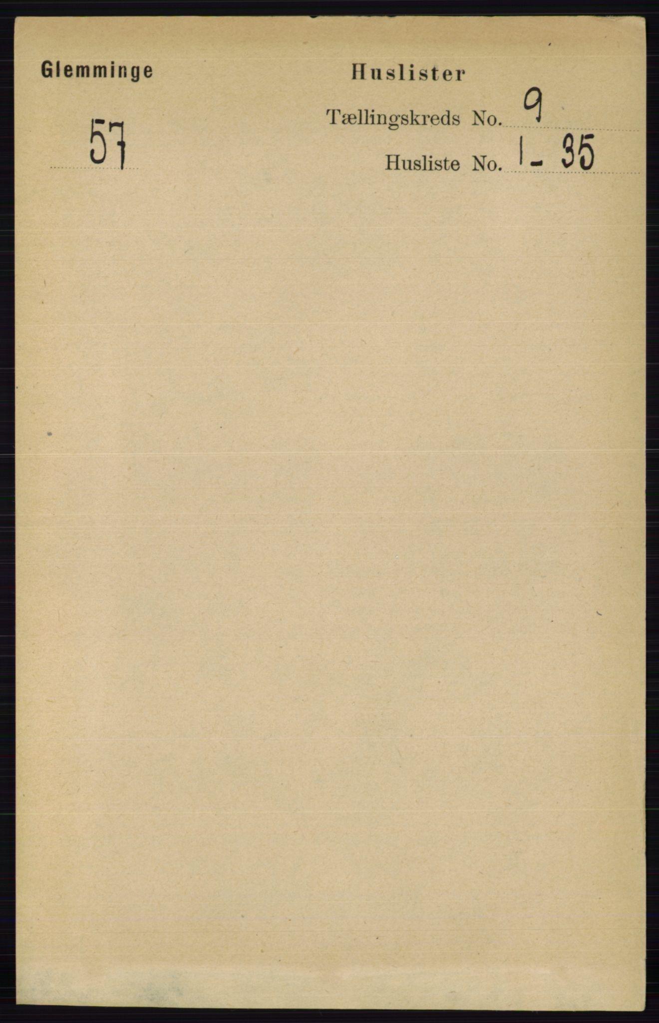 RA, Folketelling 1891 for 0132 Glemmen herred, 1891, s. 9544