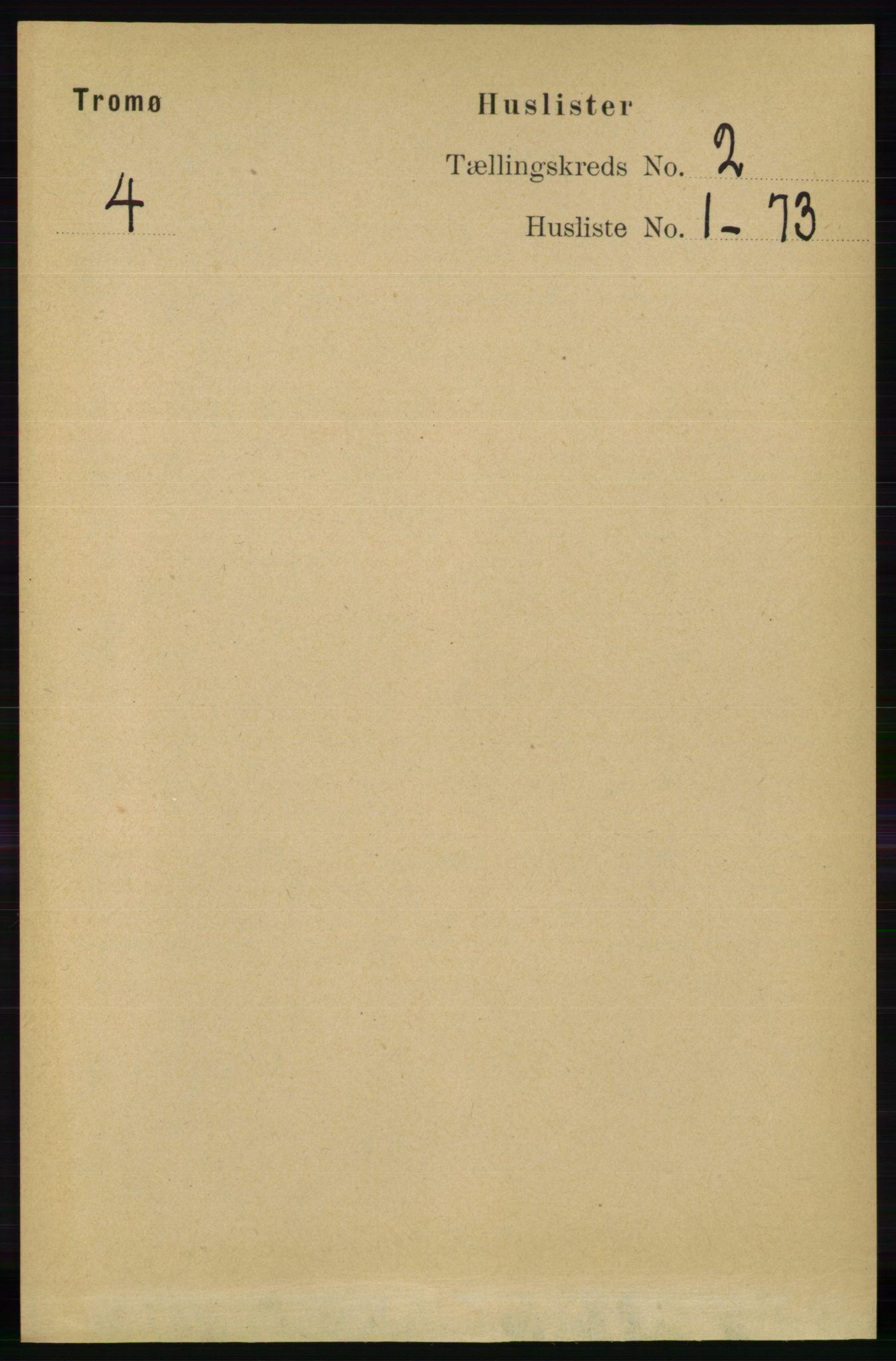 RA, Folketelling 1891 for 0921 Tromøy herred, 1891, s. 408