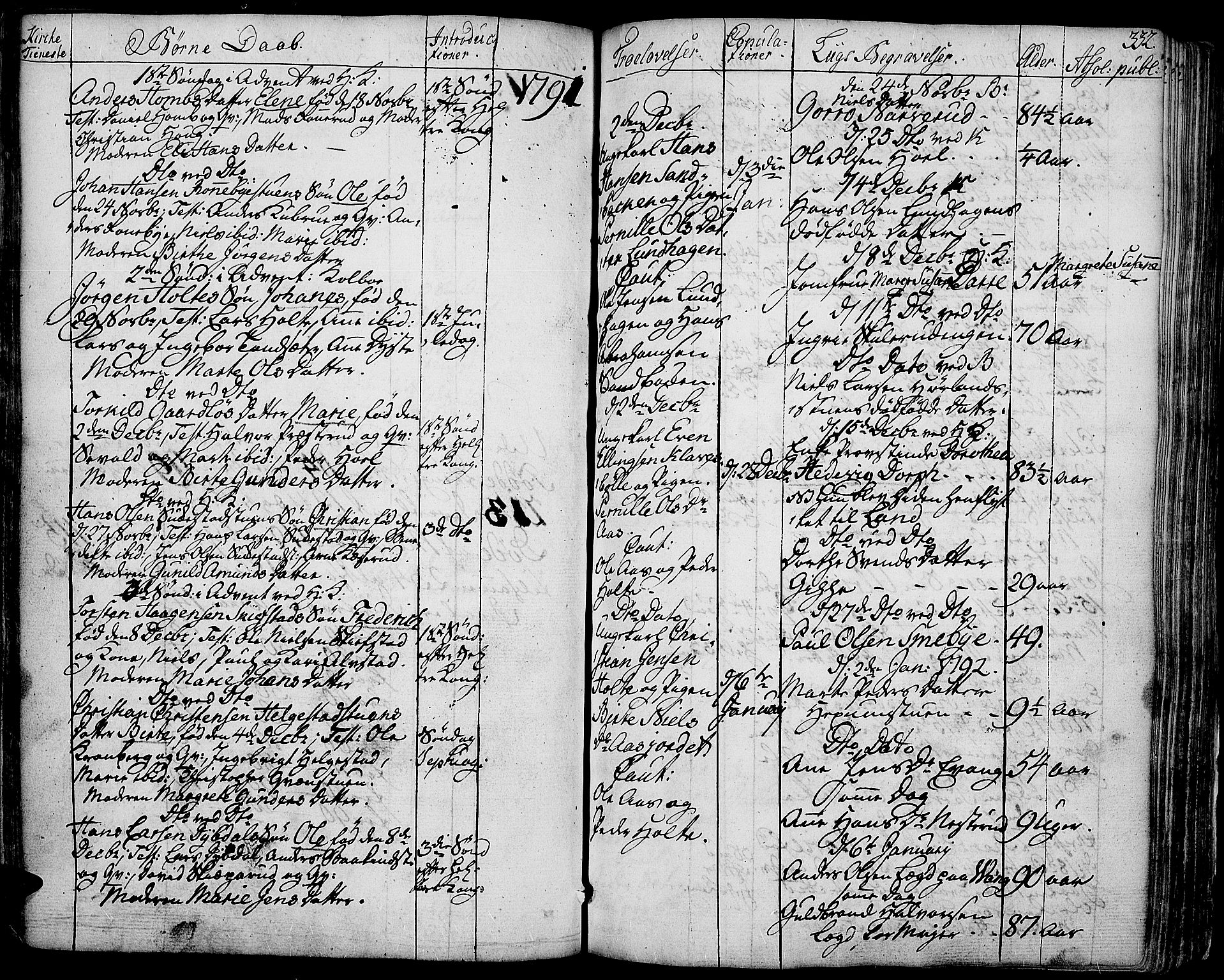 SAH, Toten prestekontor, Ministerialbok nr. 6, 1773-1793, s. 332