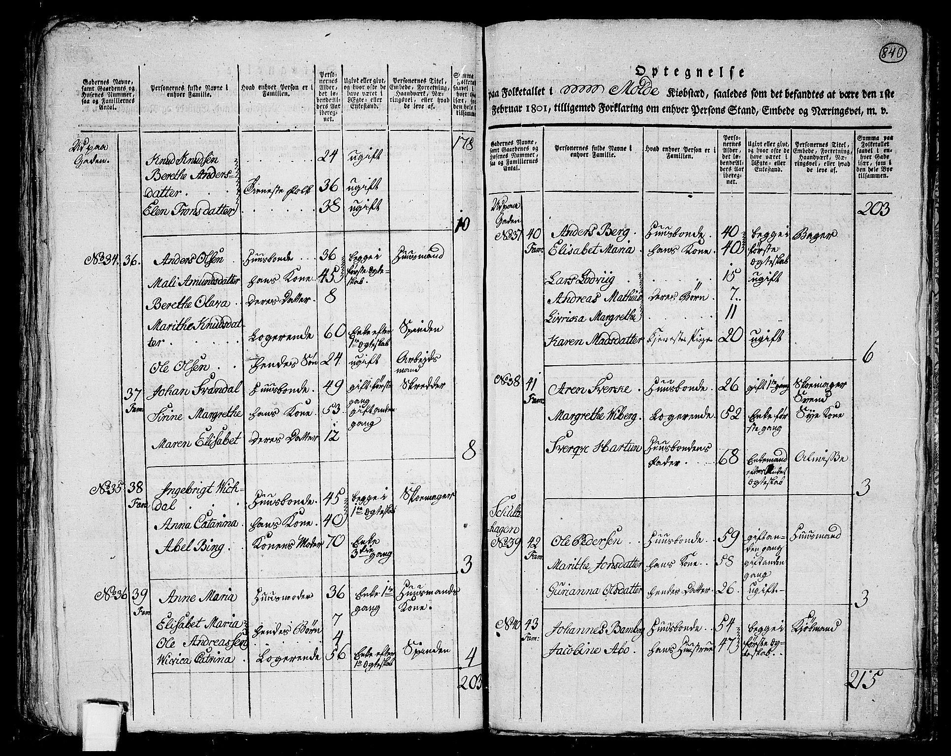 RA, Folketelling 1801 for 1544P Bolsøy prestegjeld, 1801, s. 839b-840a