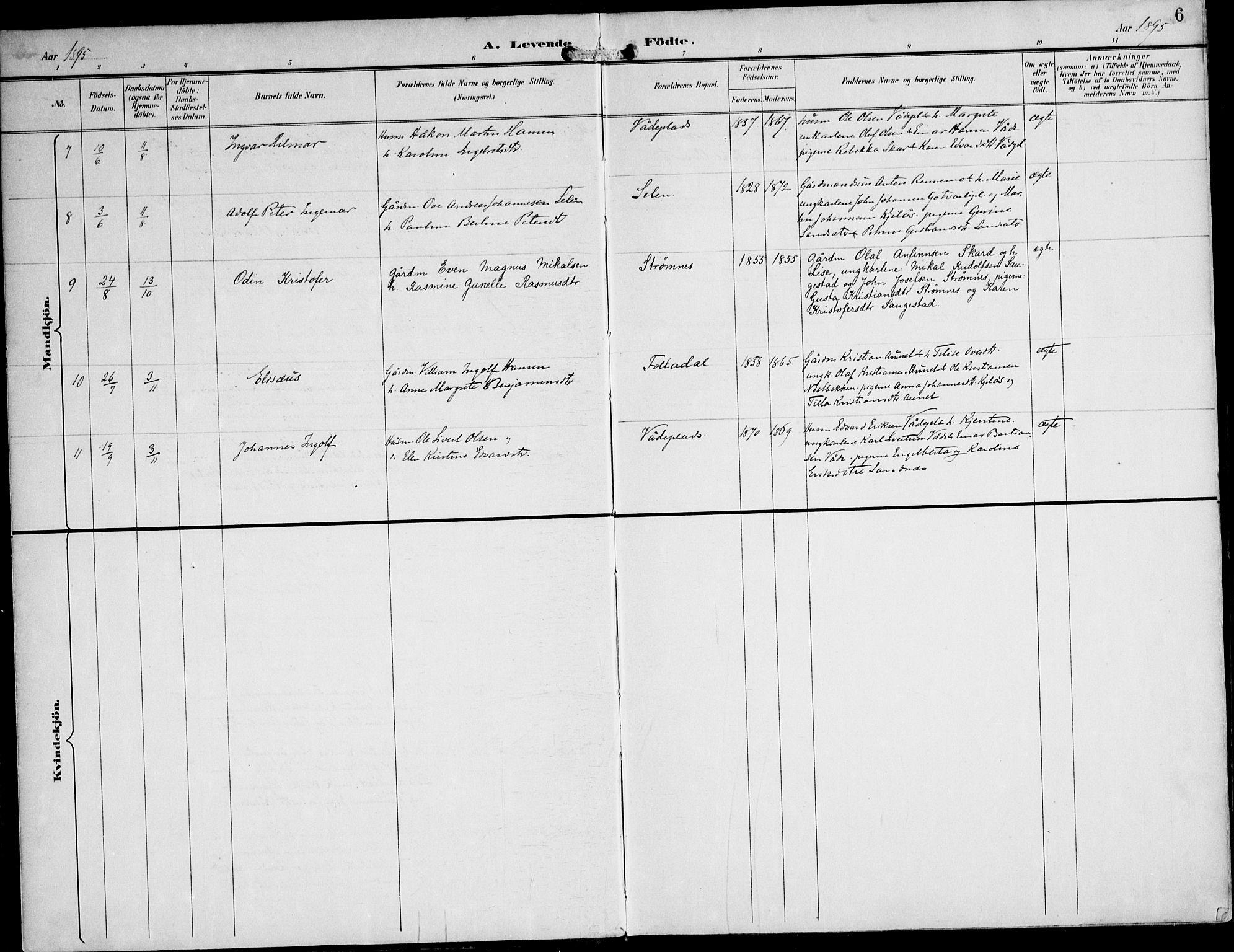 SAT, Ministerialprotokoller, klokkerbøker og fødselsregistre - Nord-Trøndelag, 745/L0430: Ministerialbok nr. 745A02, 1895-1913, s. 6