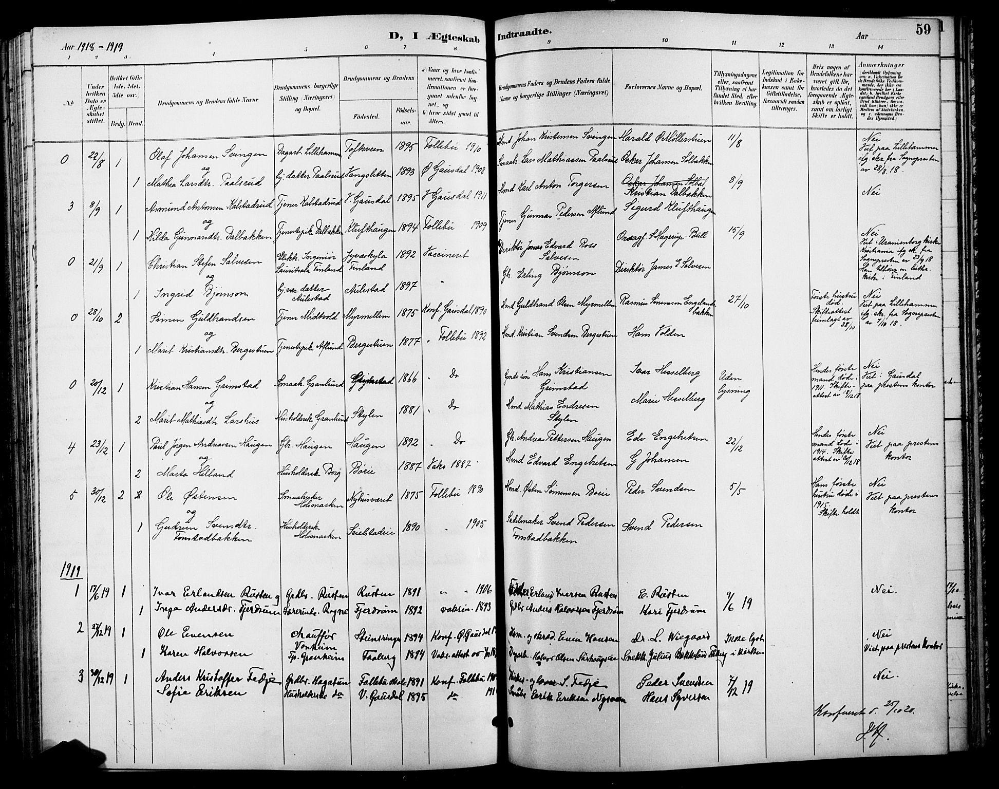 SAH, Østre Gausdal prestekontor, Klokkerbok nr. 3, 1894-1915, s. 59