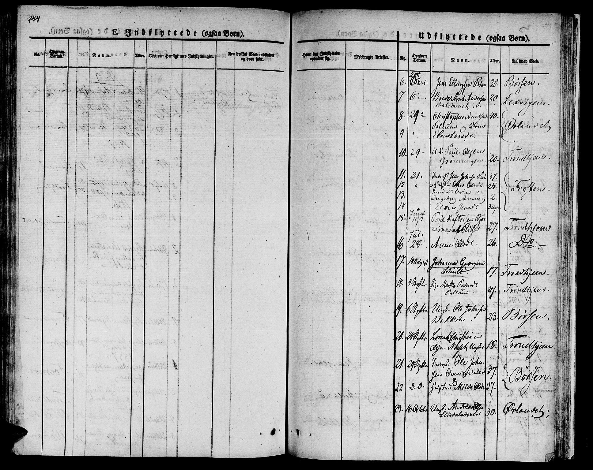 SAT, Ministerialprotokoller, klokkerbøker og fødselsregistre - Sør-Trøndelag, 646/L0609: Ministerialbok nr. 646A07, 1826-1838, s. 244