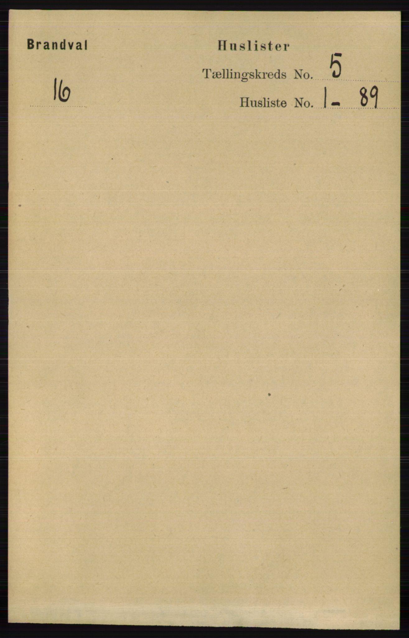 RA, Folketelling 1891 for 0422 Brandval herred, 1891, s. 2107