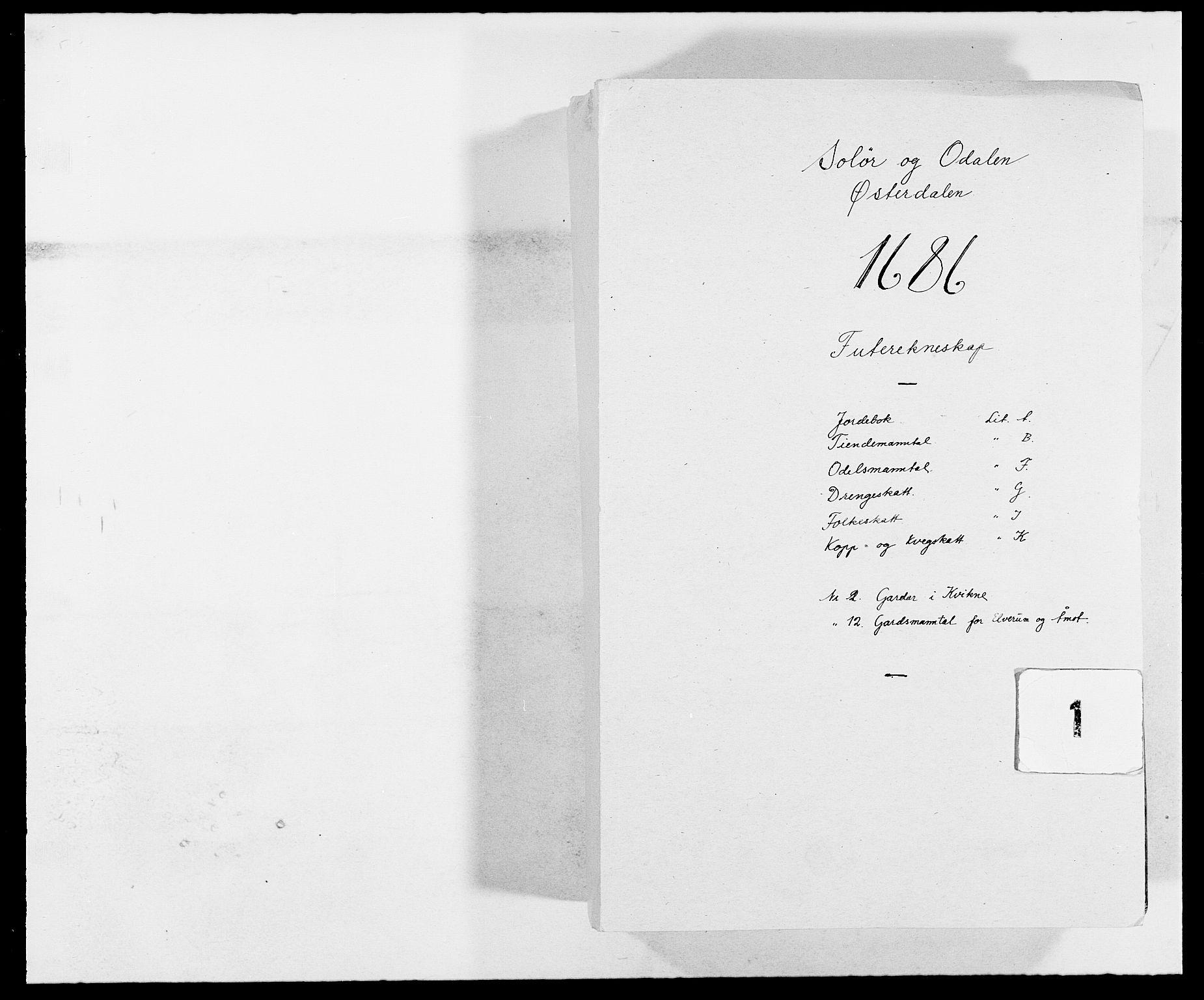 RA, Rentekammeret inntil 1814, Reviderte regnskaper, Fogderegnskap, R13/L0823: Fogderegnskap Solør, Odal og Østerdal, 1686, s. 1