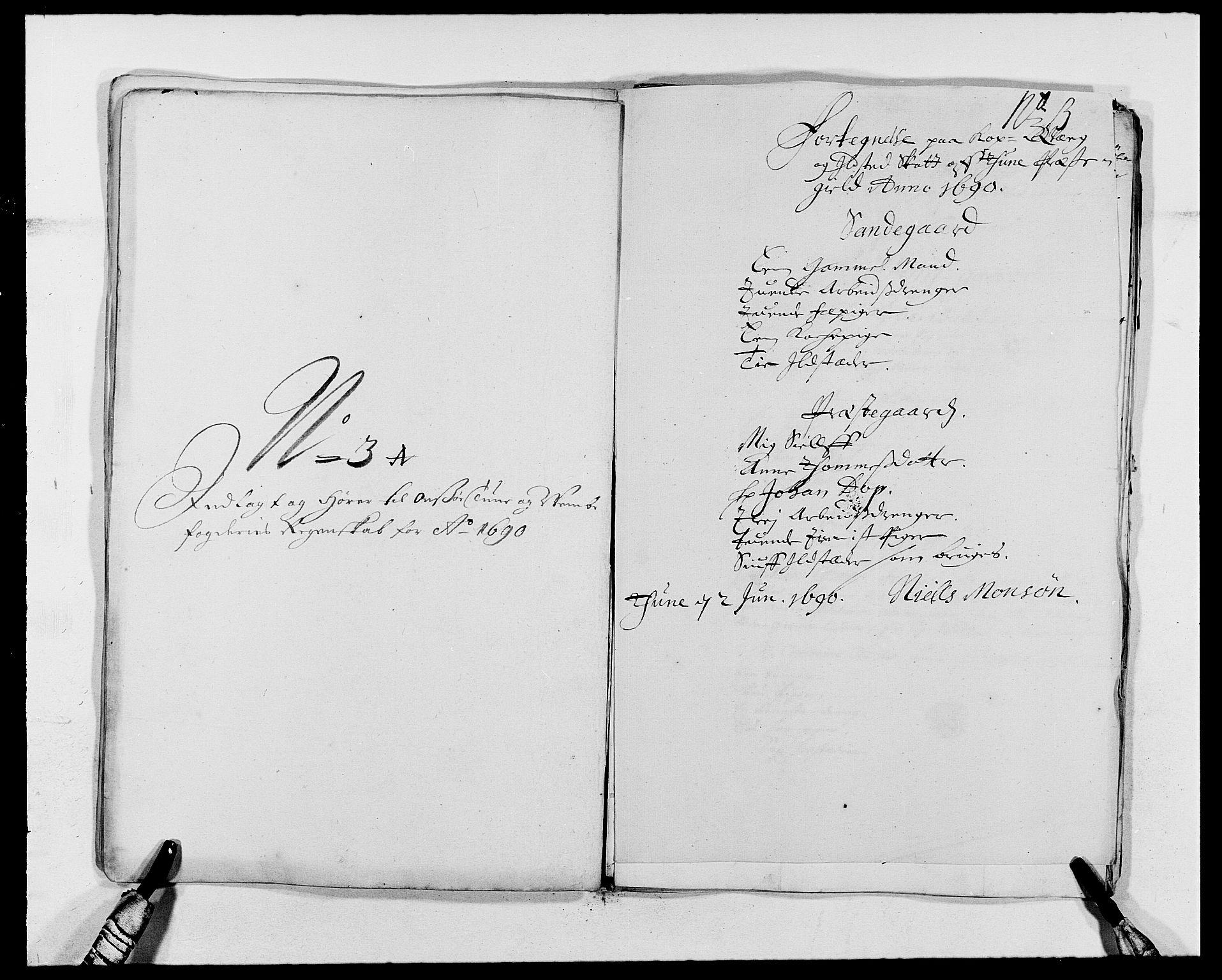 RA, Rentekammeret inntil 1814, Reviderte regnskaper, Fogderegnskap, R03/L0119: Fogderegnskap Onsøy, Tune, Veme og Åbygge fogderi, 1690-1691, s. 183