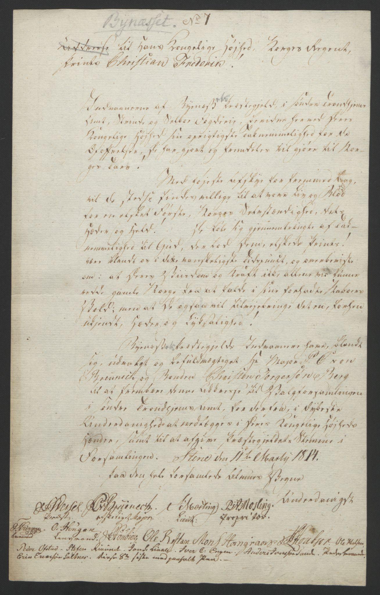RA, Statsrådssekretariatet, D/Db/L0008: Fullmakter for Eidsvollsrepresentantene i 1814. , 1814, s. 433