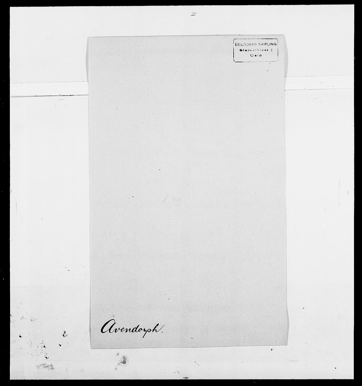 SAO, Delgobe, Charles Antoine - samling, D/Da/L0002: Anker, Ancher - Bauner, s. 527
