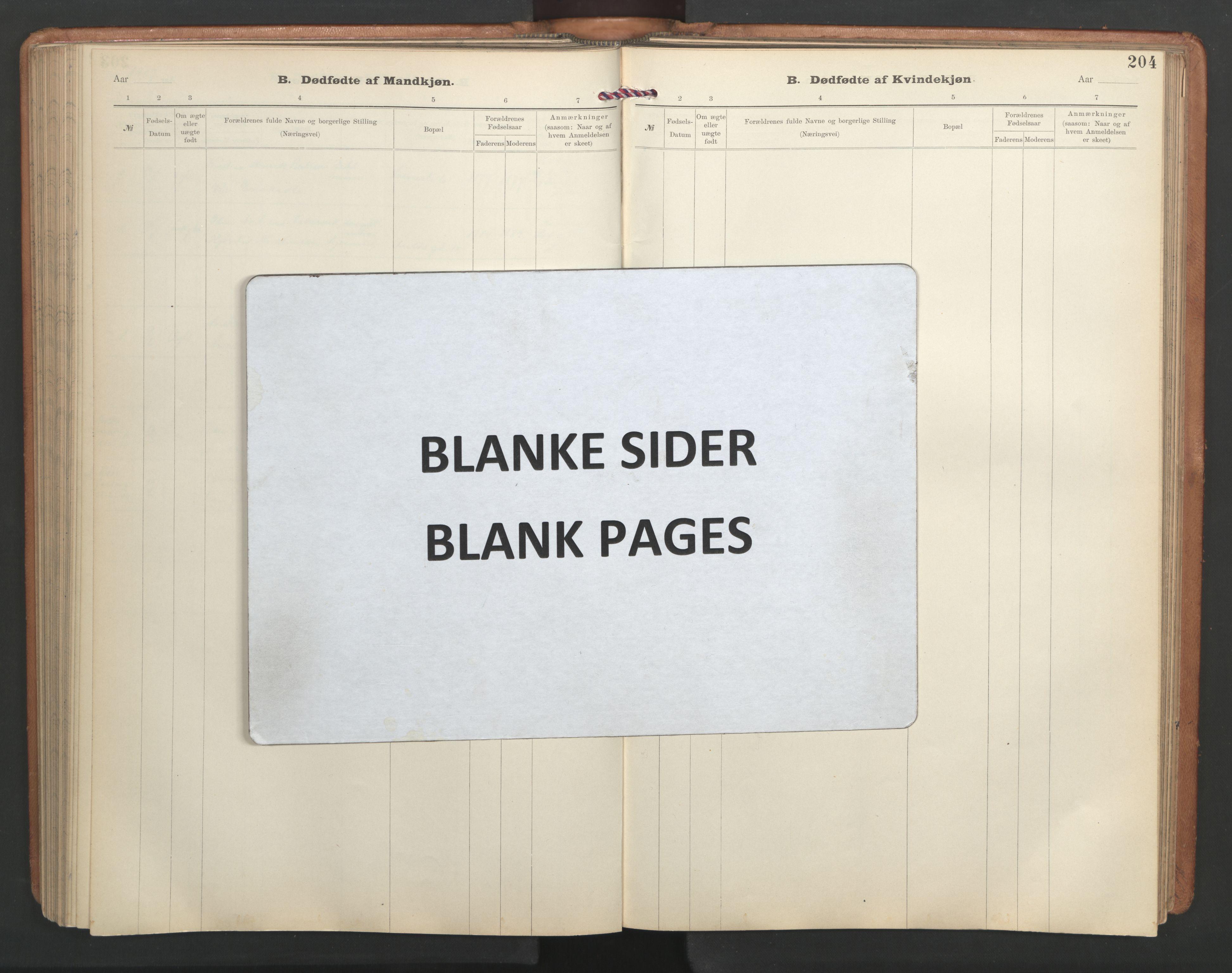 SAT, Ministerialprotokoller, klokkerbøker og fødselsregistre - Sør-Trøndelag, 603/L0173: Klokkerbok nr. 603C01, 1907-1962, s. 204