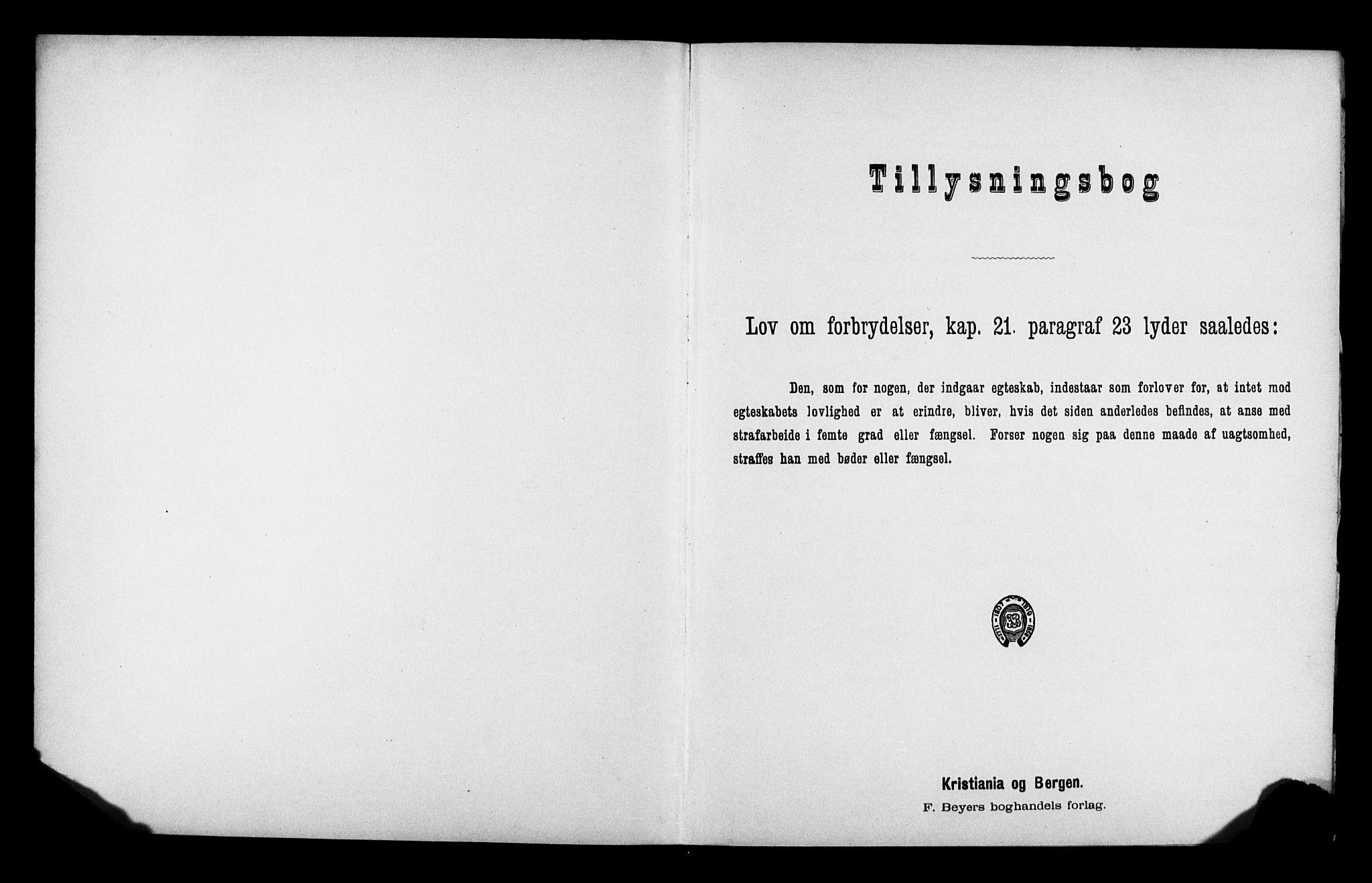 SATØ, Balsfjord sokneprestembete, Lysningsprotokoll nr. 32, 1907-1910