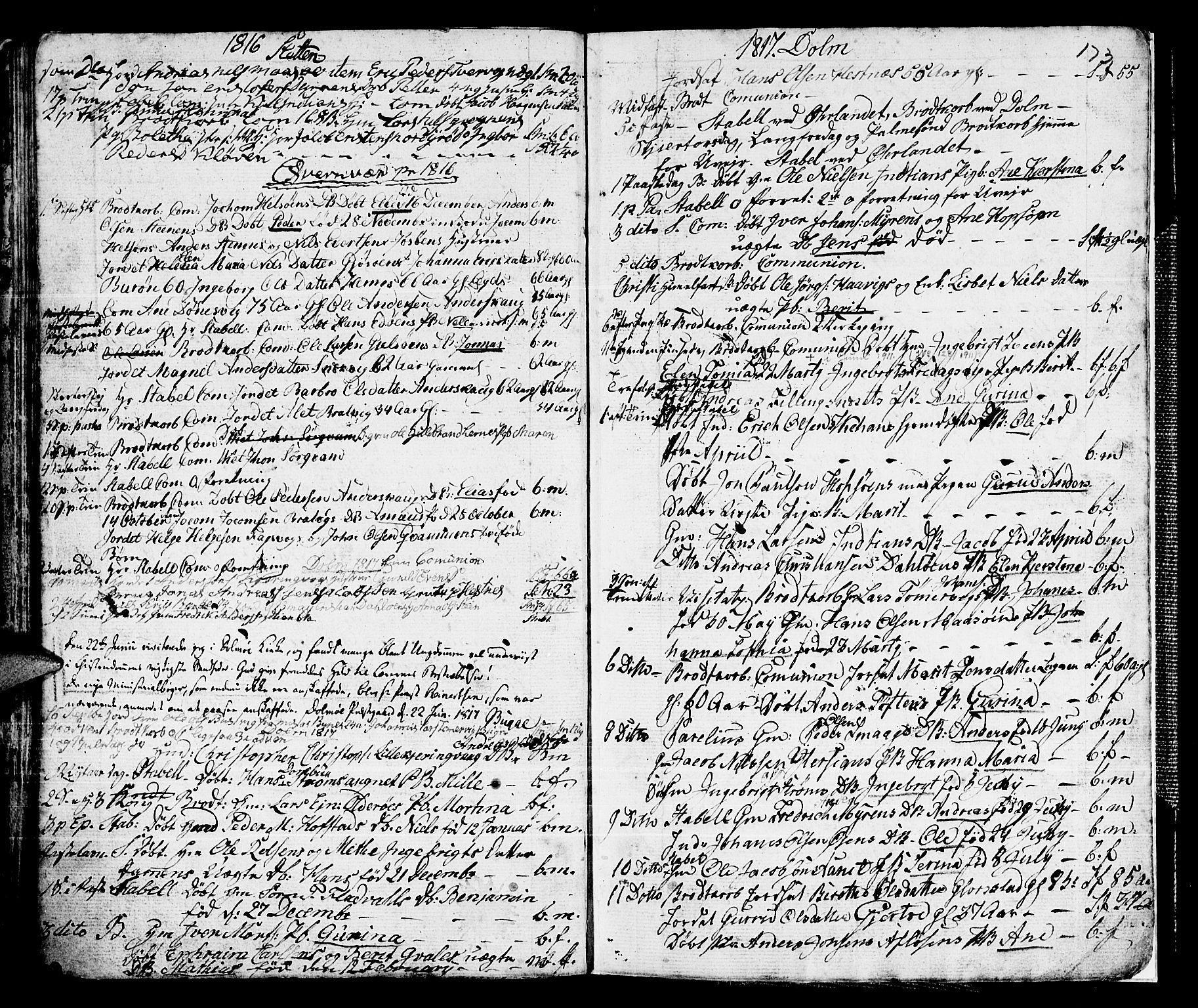 SAT, Ministerialprotokoller, klokkerbøker og fødselsregistre - Sør-Trøndelag, 634/L0526: Ministerialbok nr. 634A02, 1775-1818, s. 173