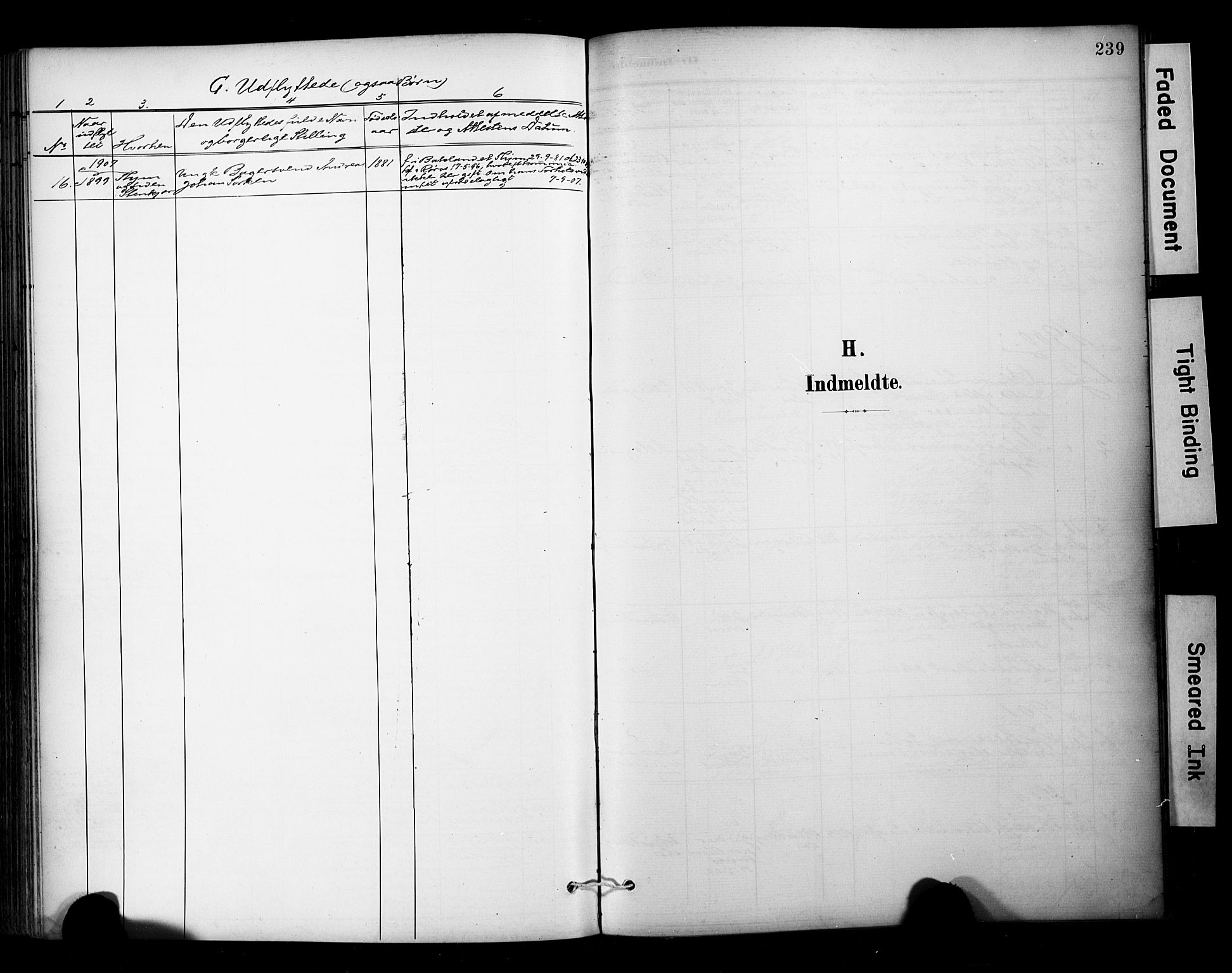 SAT, Ministerialprotokoller, klokkerbøker og fødselsregistre - Sør-Trøndelag, 681/L0936: Ministerialbok nr. 681A14, 1899-1908, s. 239