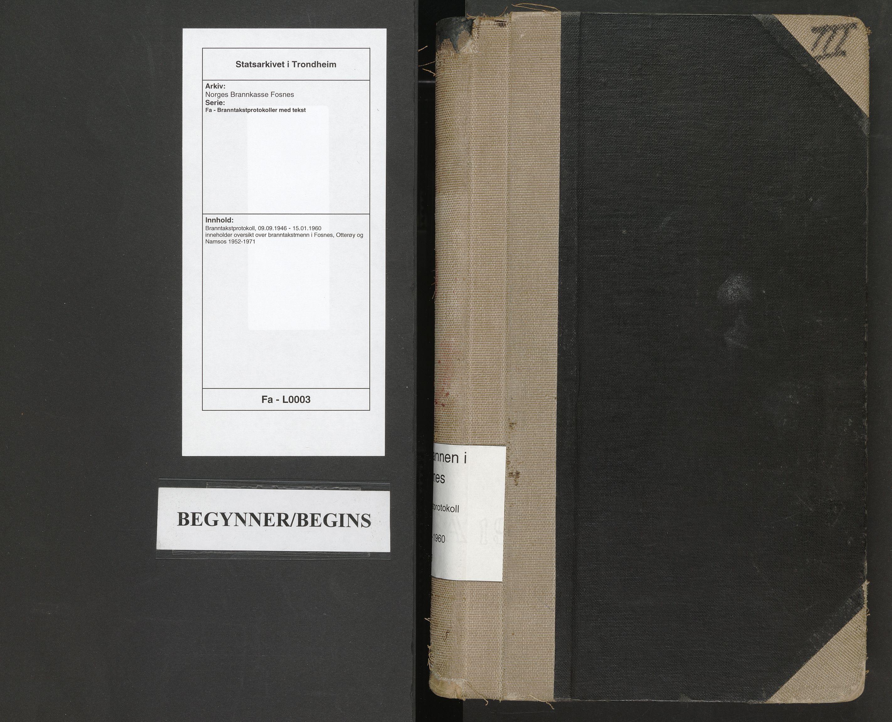 SAT, Norges Brannkasse Fosnes, Fa/L0003: Branntakstprotokoll, 1946-1960