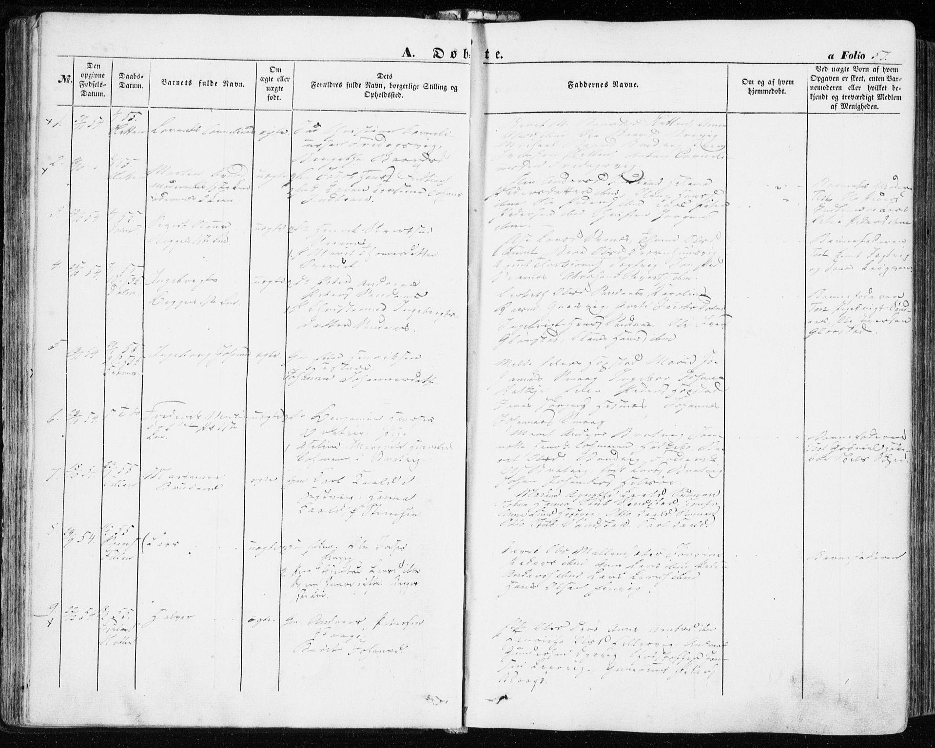 SAT, Ministerialprotokoller, klokkerbøker og fødselsregistre - Sør-Trøndelag, 634/L0530: Ministerialbok nr. 634A06, 1852-1860, s. 57