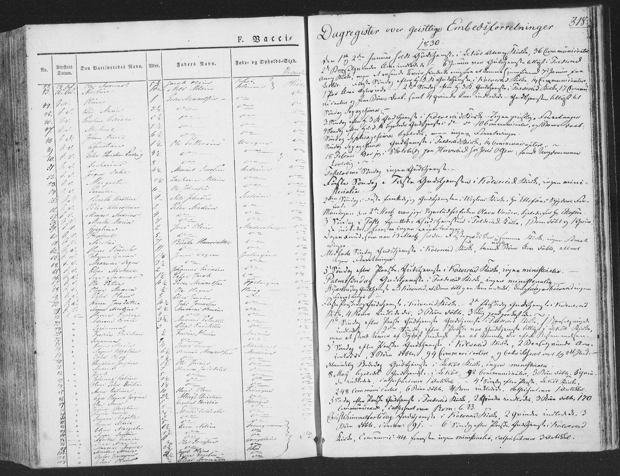 SAT, Ministerialprotokoller, klokkerbøker og fødselsregistre - Nord-Trøndelag, 780/L0639: Ministerialbok nr. 780A04, 1830-1844, s. 318