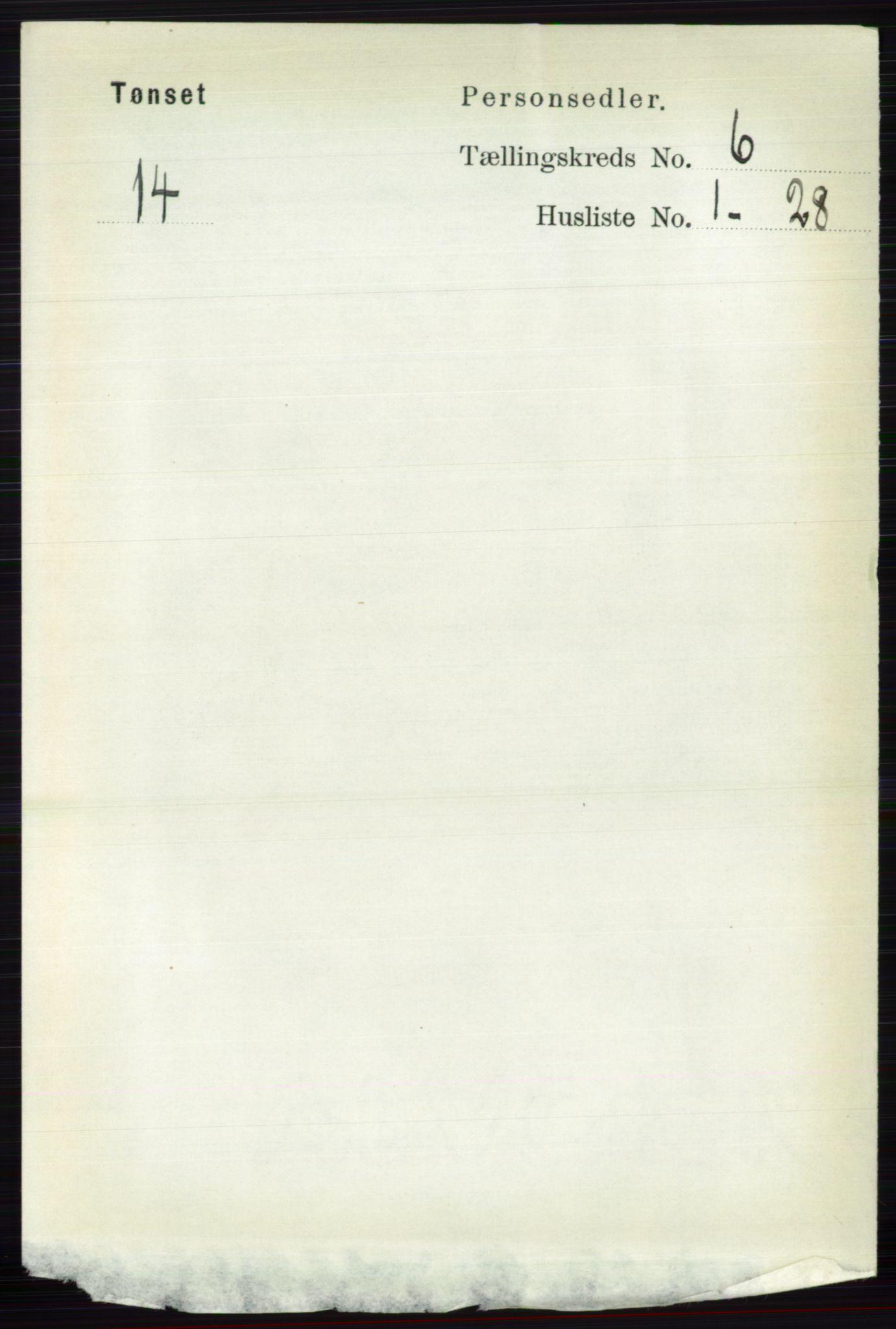 RA, Folketelling 1891 for 0437 Tynset herred, 1891, s. 1463