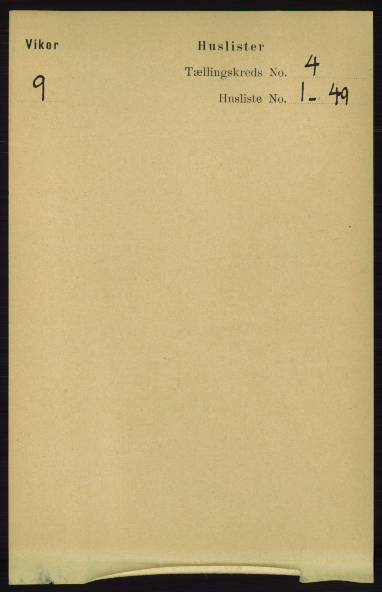 RA, Folketelling 1891 for 1238 Vikør herred, 1891, s. 1034