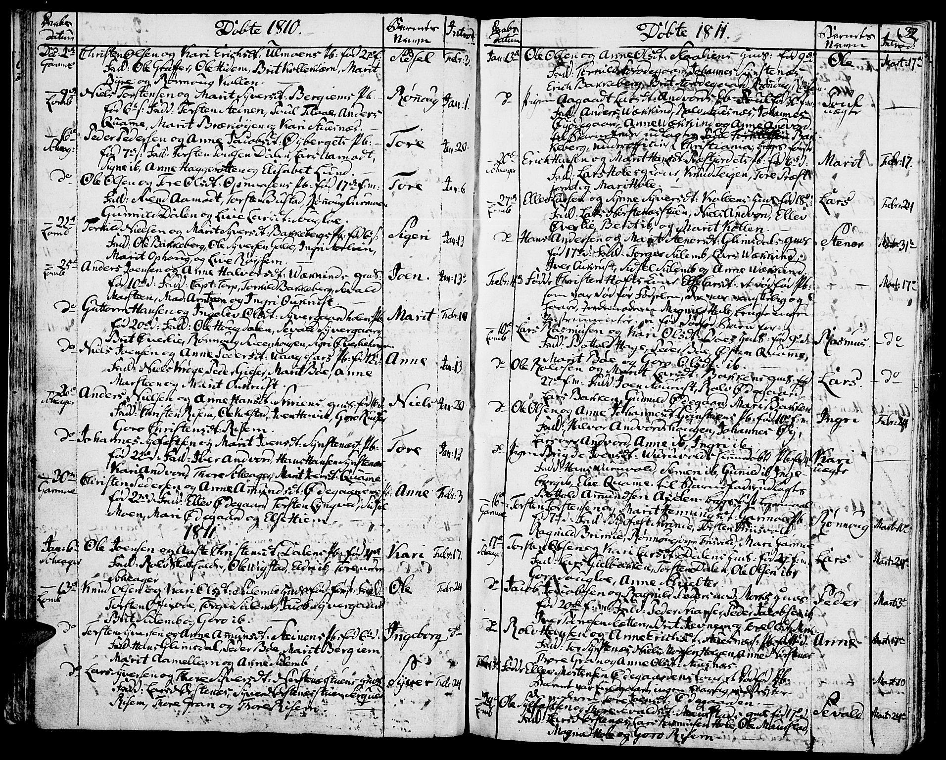 SAH, Lom prestekontor, K/L0003: Ministerialbok nr. 3, 1801-1825, s. 32
