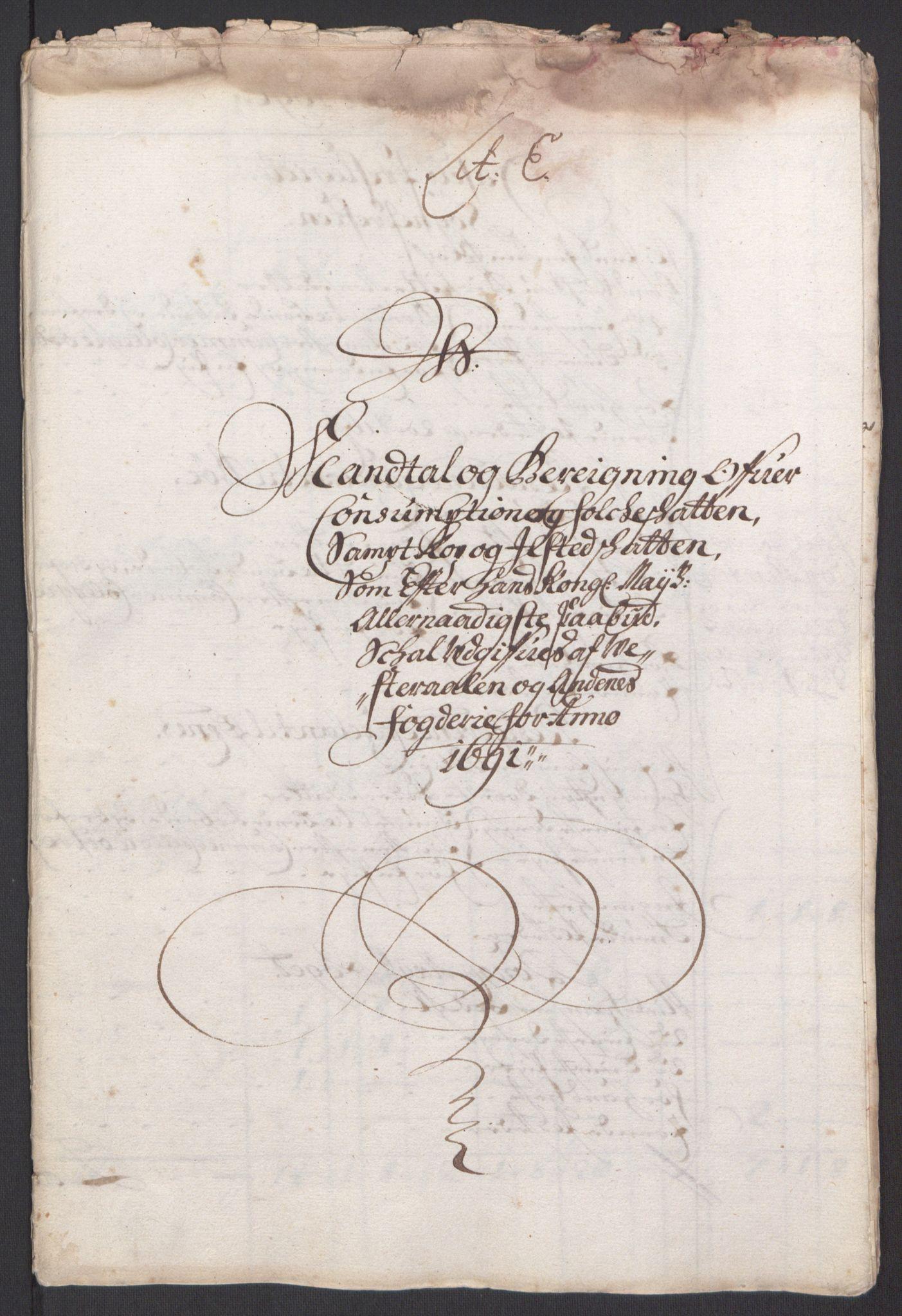 RA, Rentekammeret inntil 1814, Reviderte regnskaper, Fogderegnskap, R67/L4676: Fogderegnskap Vesterålen, Andenes og Lofoten, 1691-1693, s. 32