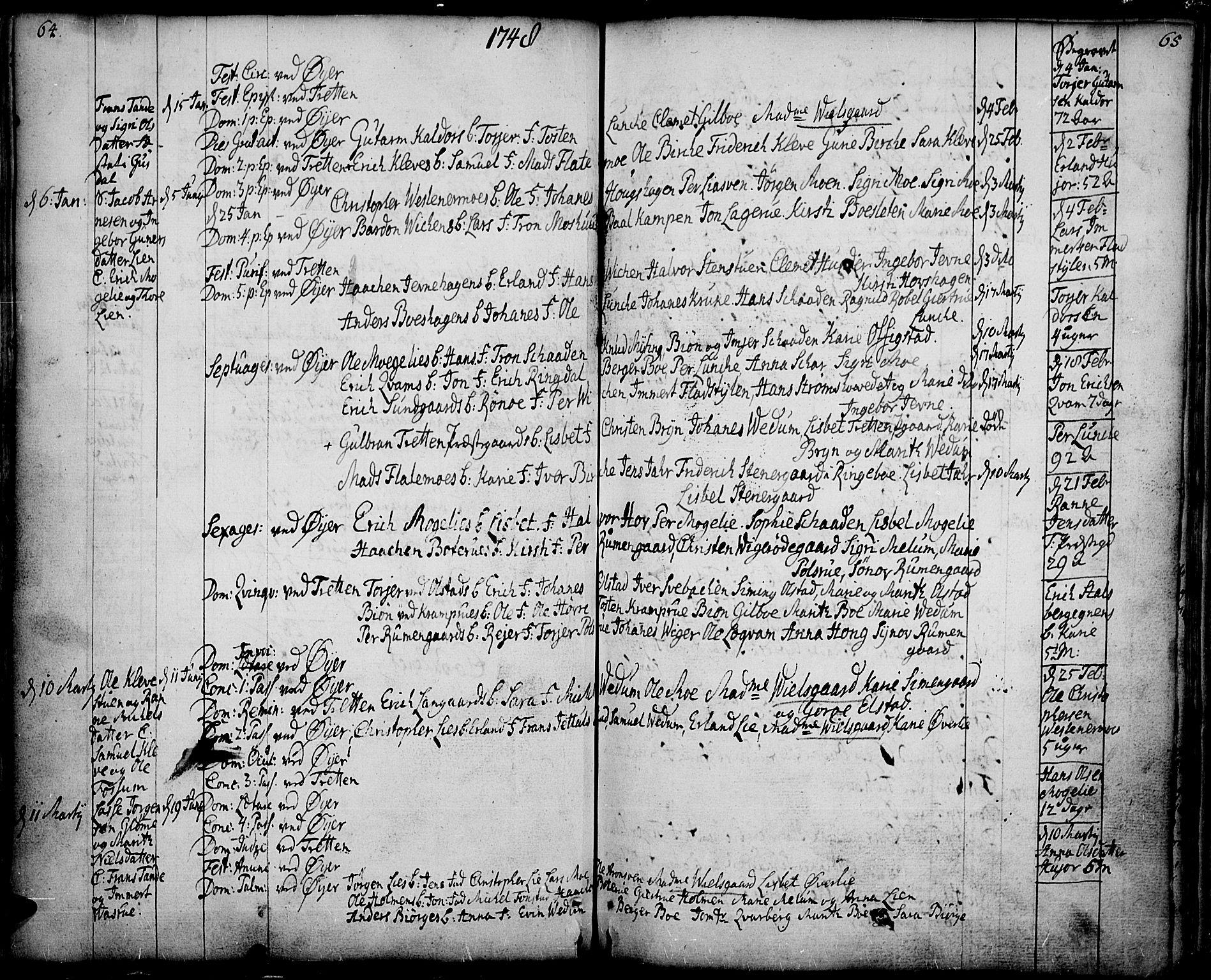SAH, Øyer prestekontor, Ministerialbok nr. 2, 1733-1784, s. 64-65
