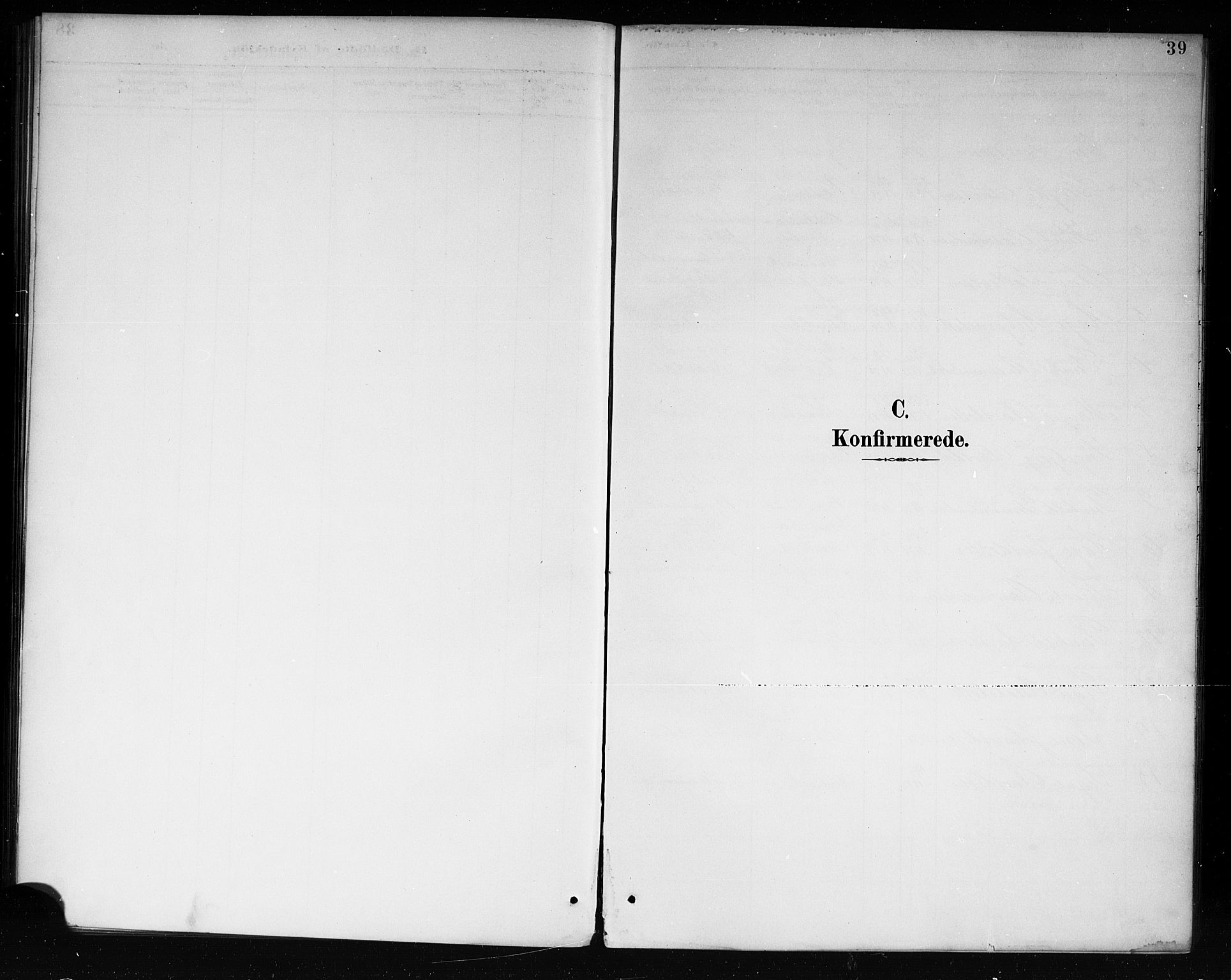 SAKO, Lårdal kirkebøker, G/Ga/L0003: Klokkerbok nr. I 3, 1891-1918, s. 39
