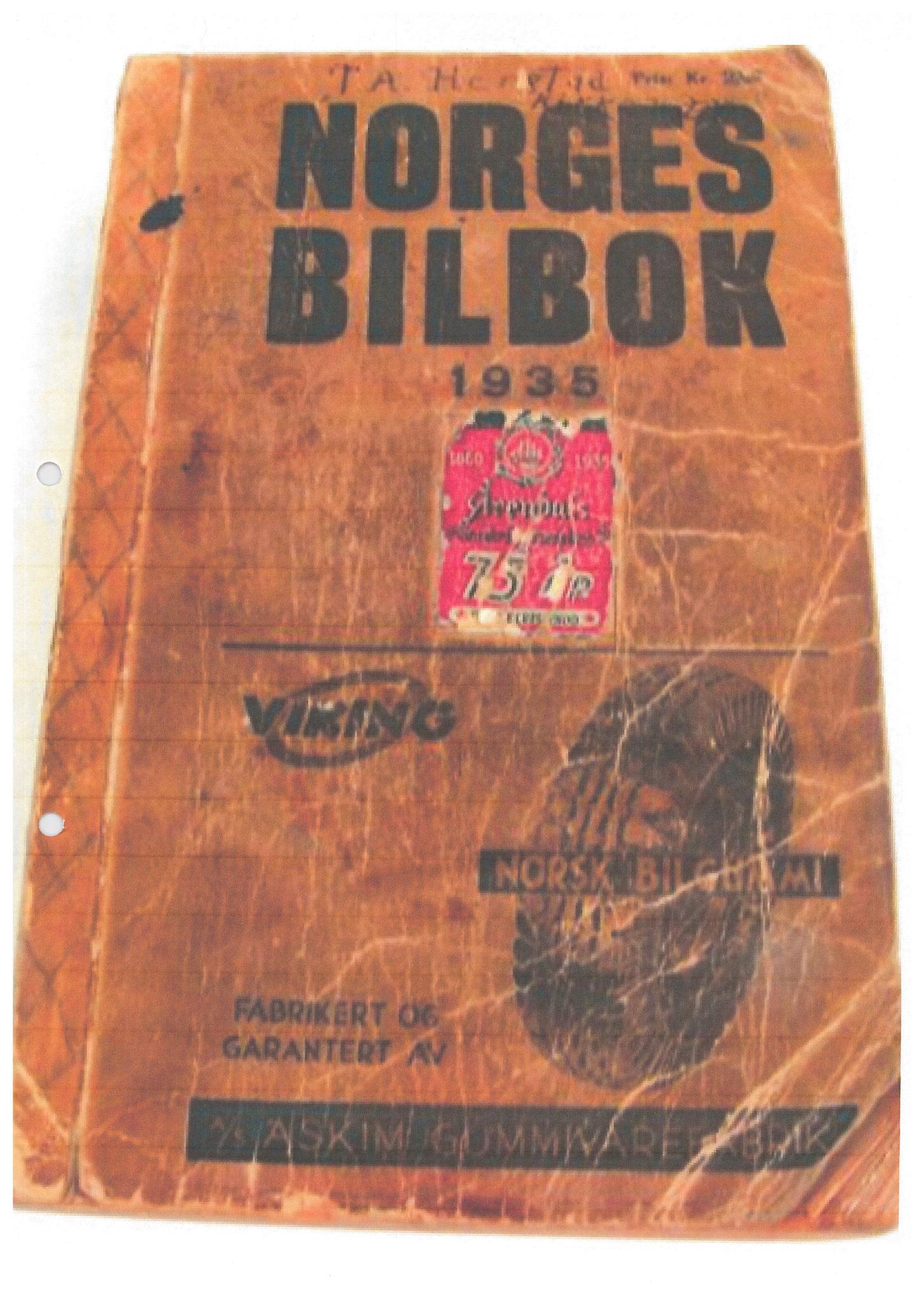 PUBL, Andre publikasjoner, -/-: Norges bilbok 1935, 1935