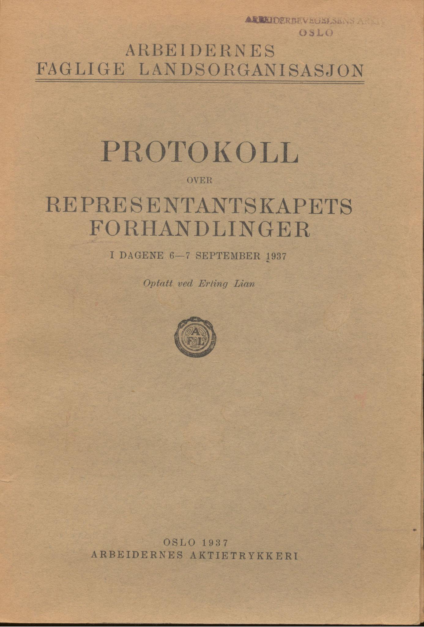 AAB, Landsorganisasjonen i Norge, 1911-1953, s. 228