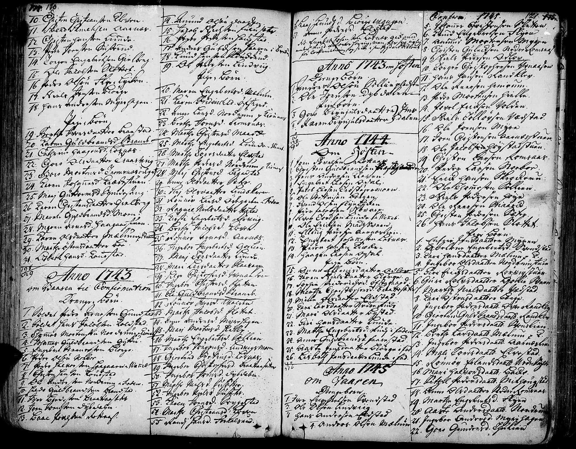 SAH, Ringebu prestekontor, Ministerialbok nr. 2, 1734-1780, s. 170-171