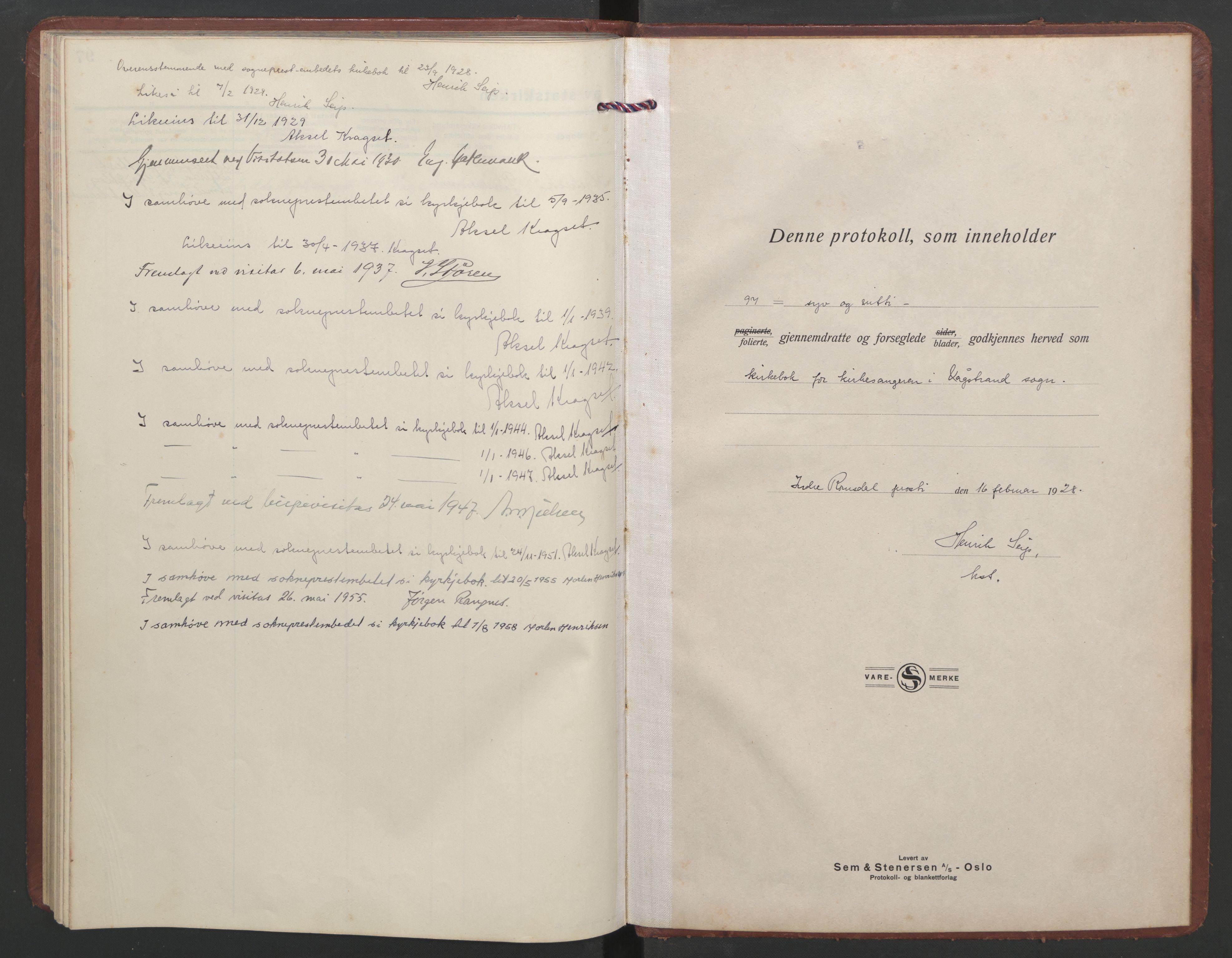 SAT, Ministerialprotokoller, klokkerbøker og fødselsregistre - Møre og Romsdal, 550/L0619: Klokkerbok nr. 550C02, 1928-1967