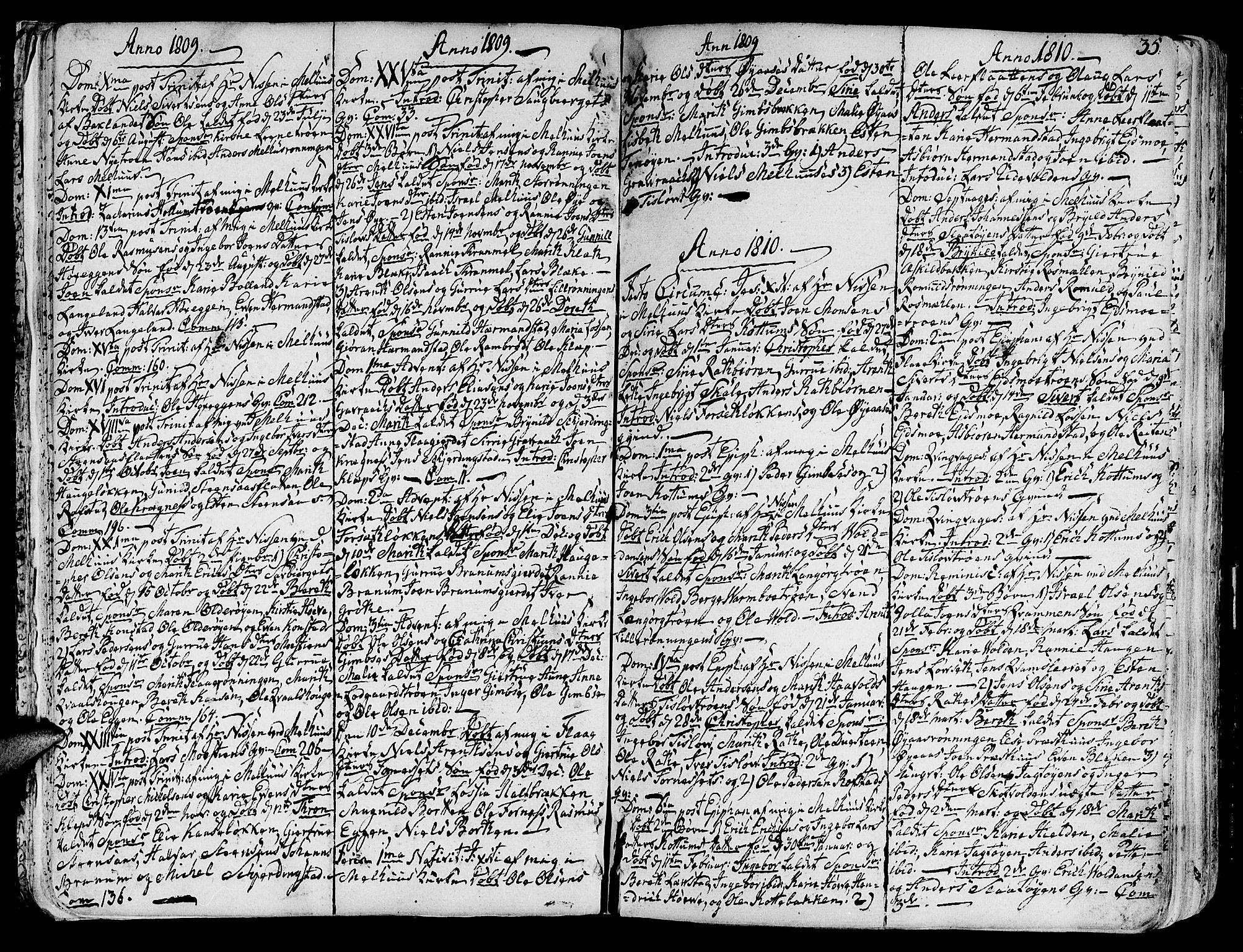 SAT, Ministerialprotokoller, klokkerbøker og fødselsregistre - Sør-Trøndelag, 691/L1061: Ministerialbok nr. 691A02 /1, 1768-1815, s. 35
