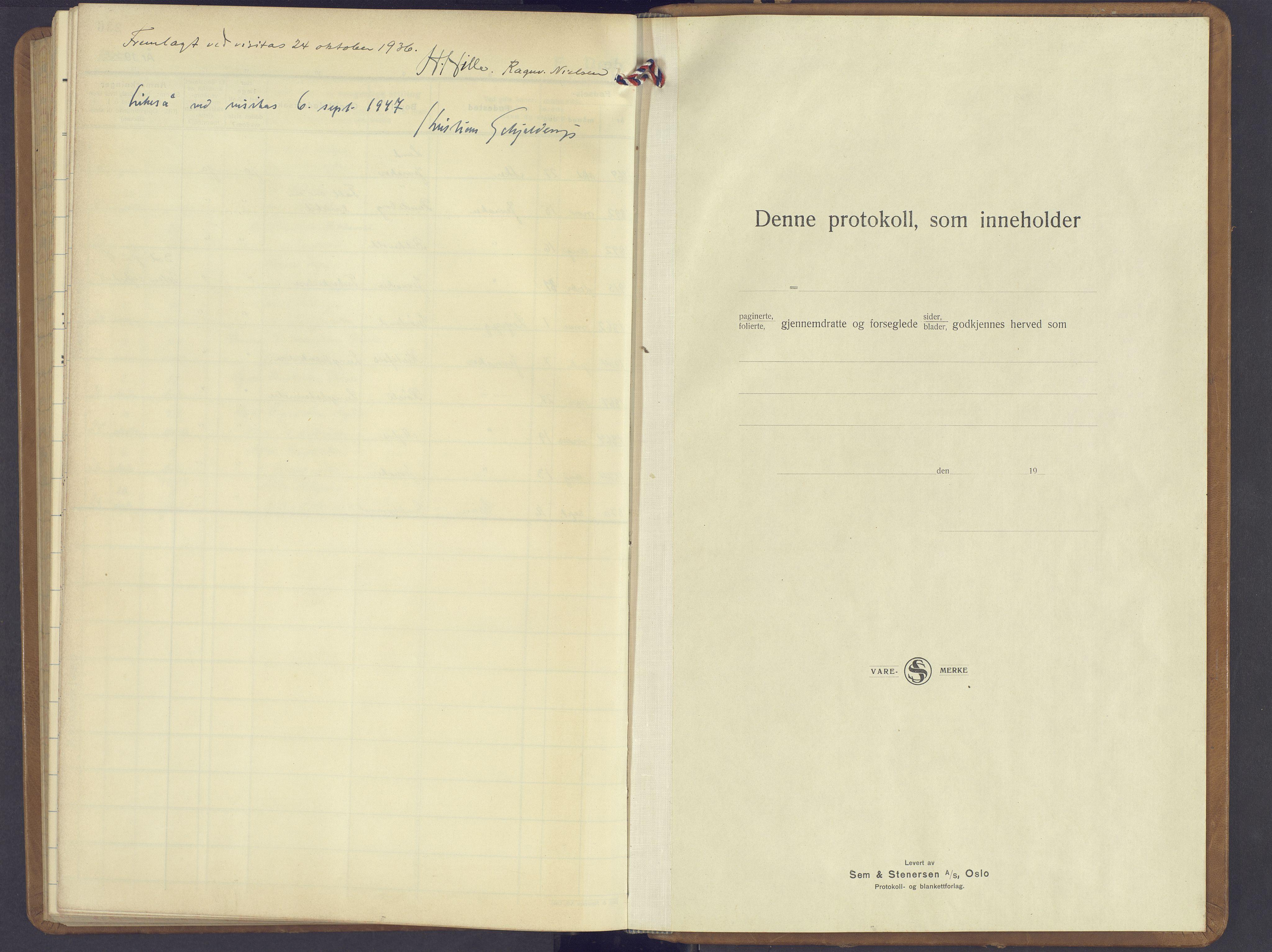 SAH, Jevnaker prestekontor, Klokkerbok nr. 6, 1930-1945