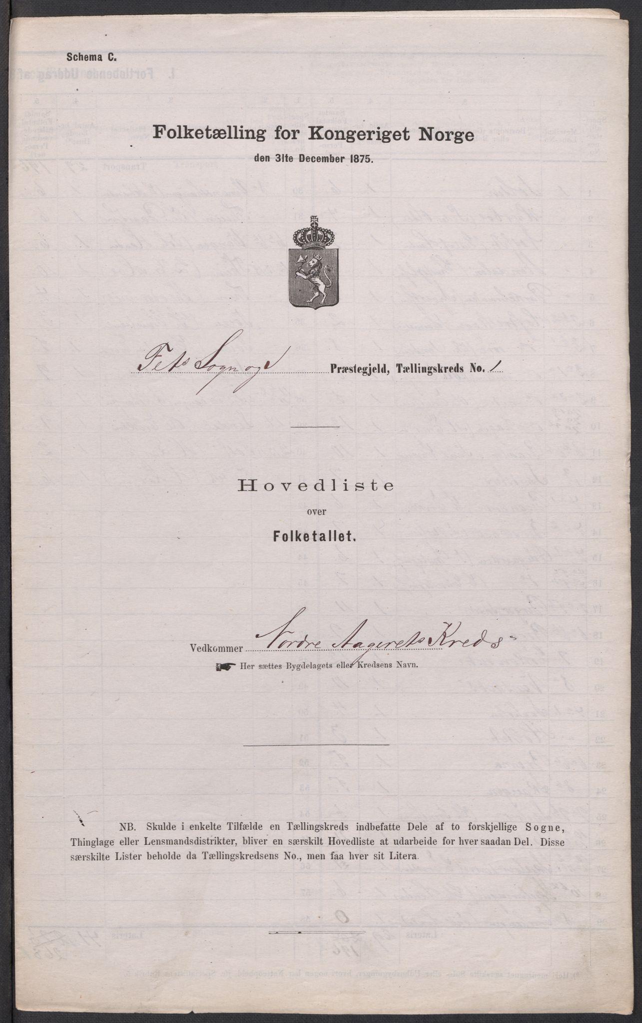 RA, Folketelling 1875 for 0227P Fet prestegjeld, 1875, s. 48