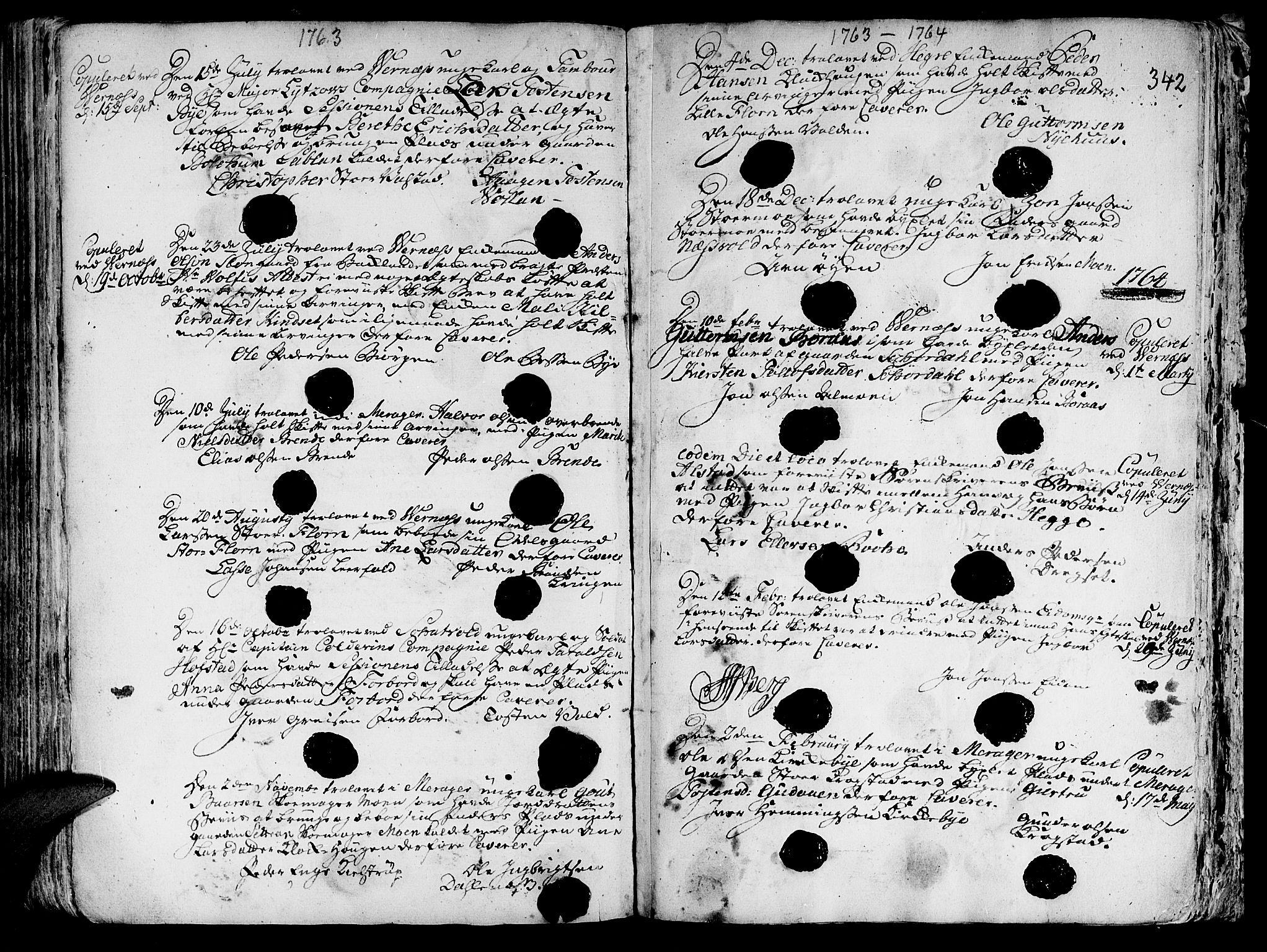 SAT, Ministerialprotokoller, klokkerbøker og fødselsregistre - Nord-Trøndelag, 709/L0057: Ministerialbok nr. 709A05, 1755-1780, s. 342