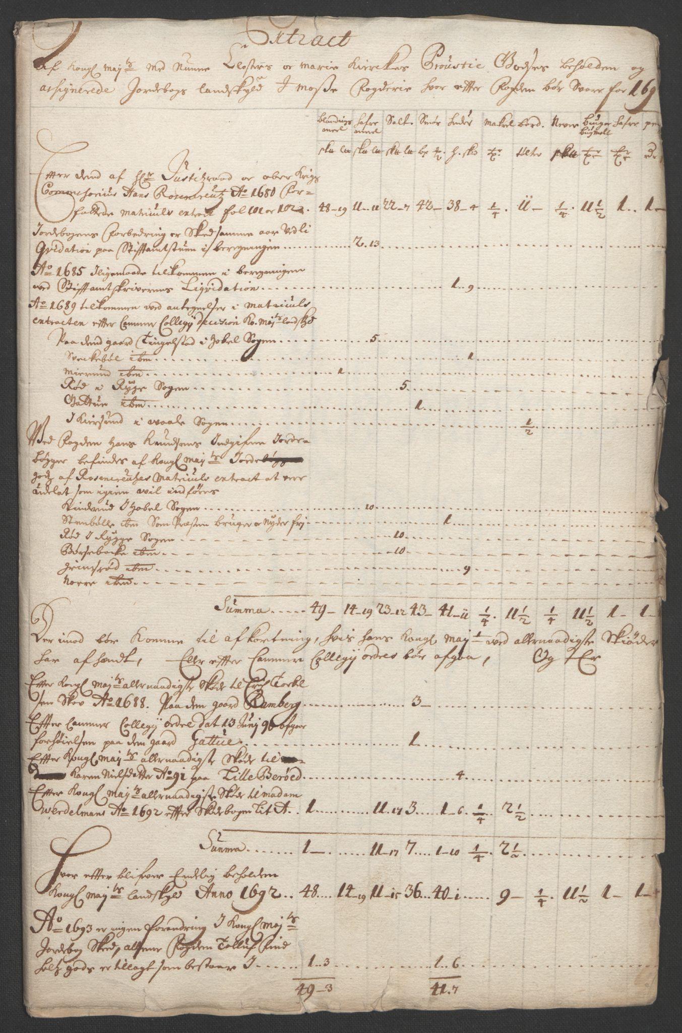 RA, Rentekammeret inntil 1814, Reviderte regnskaper, Fogderegnskap, R02/L0108: Fogderegnskap Moss og Verne kloster, 1692-1693, s. 20